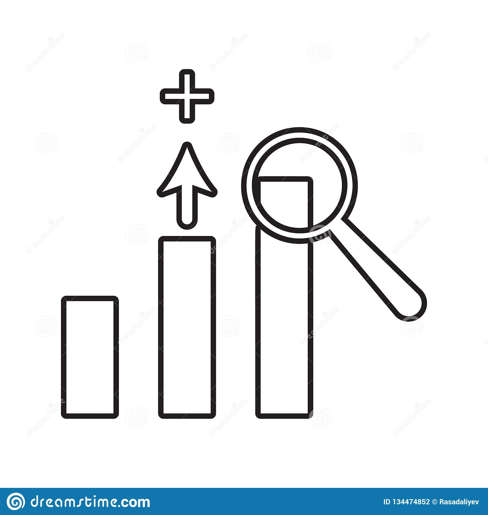Growth chart icon. Element of Conversation and Friendship for mobile concept and web apps icon. Thin line icon for website design. And development, app vector illustration