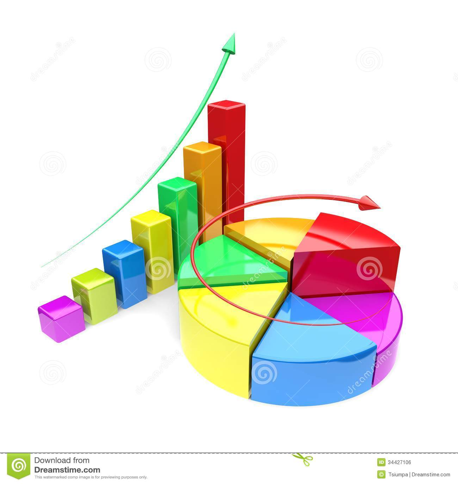 Growth Charts Stock Illustration Illustration Of Progress