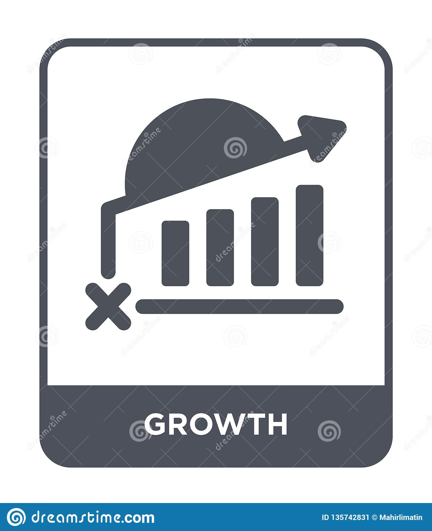 growth icon in trendy design style. growth icon isolated on white background. growth vector icon simple and modern flat symbol for