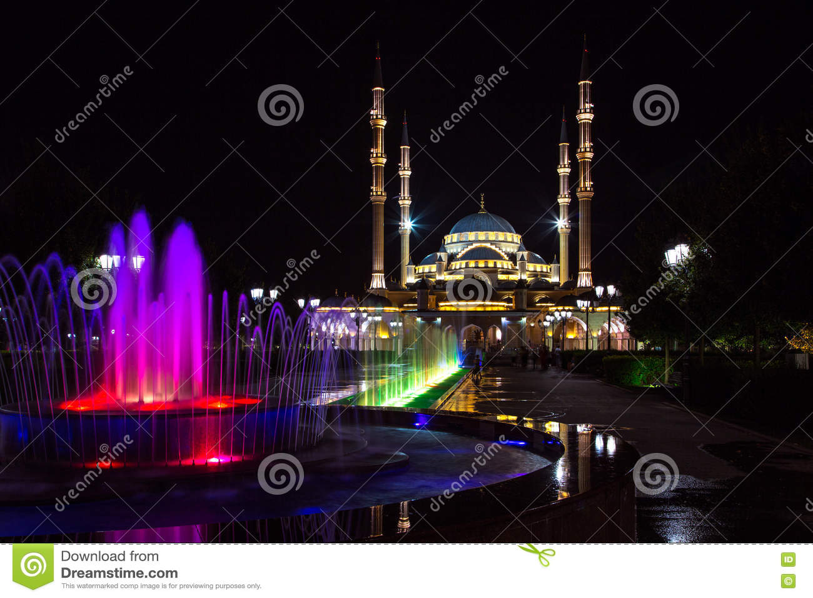 Grozny bij nacht