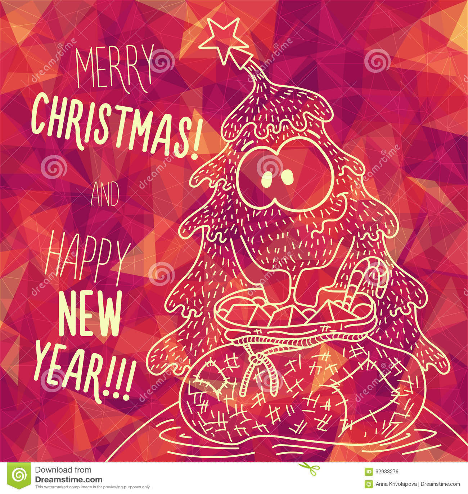 Grüße Frohe Weihnachten.Gruß Der Polygonalen Karte Frohe Weihnachten Und Neues Jahr Vektor