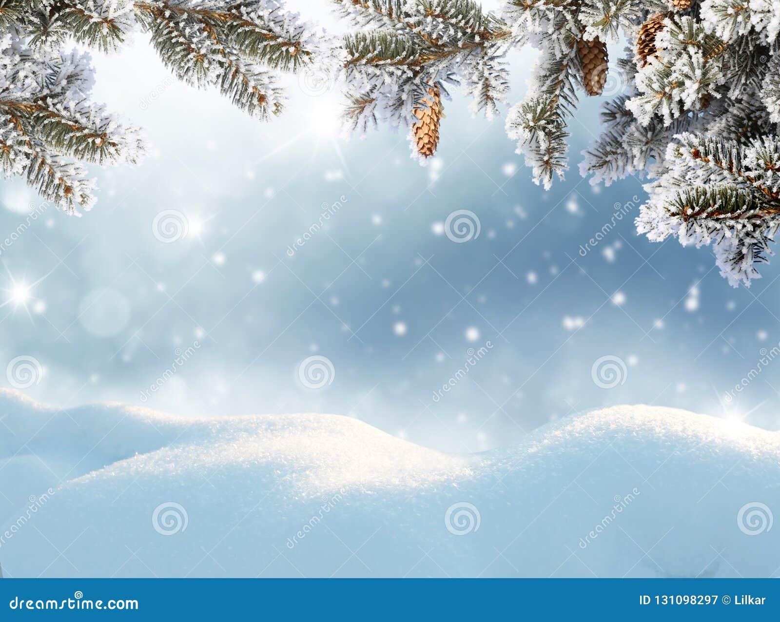 Grußkarte der frohen Weihnachten und des glücklichen neuen Jahres Winter landsca