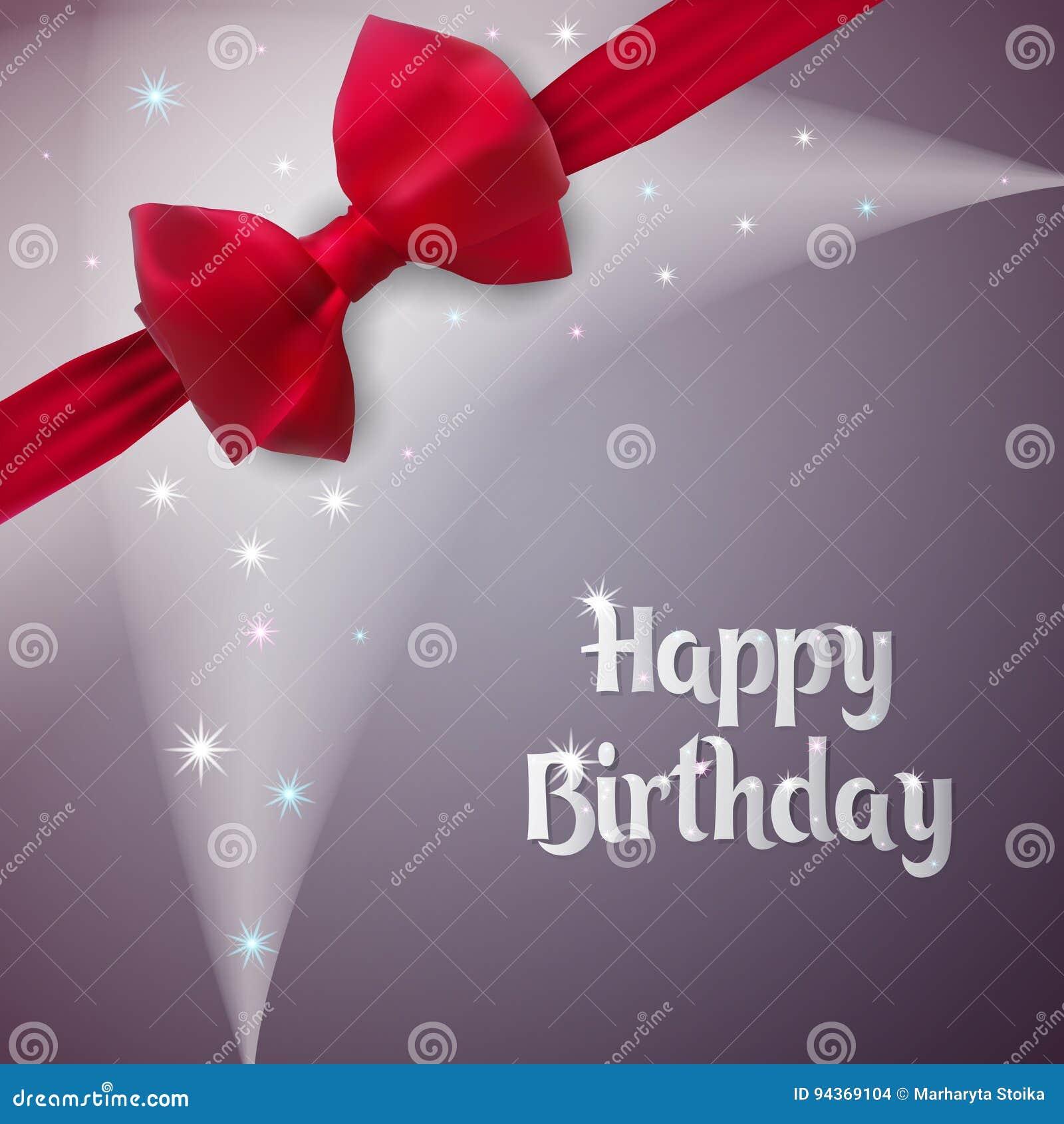 Grußkarte für einen Jahrestag Alles Gute zum Geburtstag Grauer Hintergrund mit Licht und Sternen Geburtsgeschenk wird mit einem B