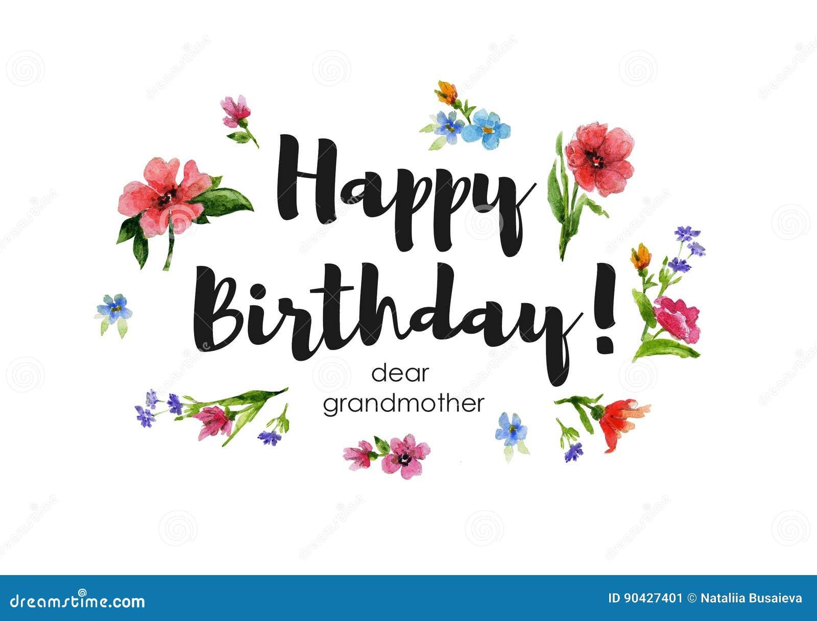 Grußkarte Liebe Großmutter Alles Gute Zum Geburtstag ...