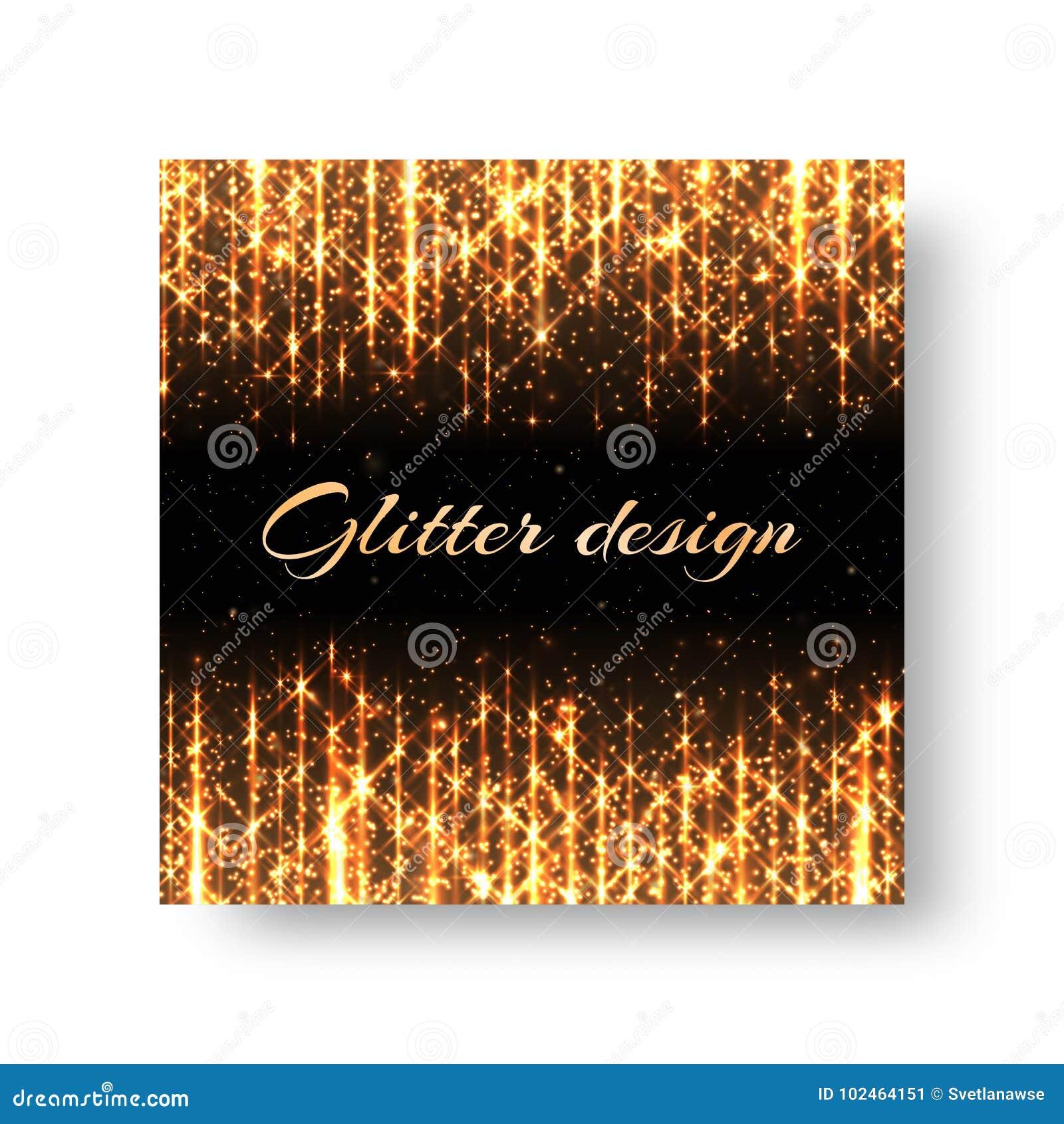 Grußkarte mit goldenen Strahlen