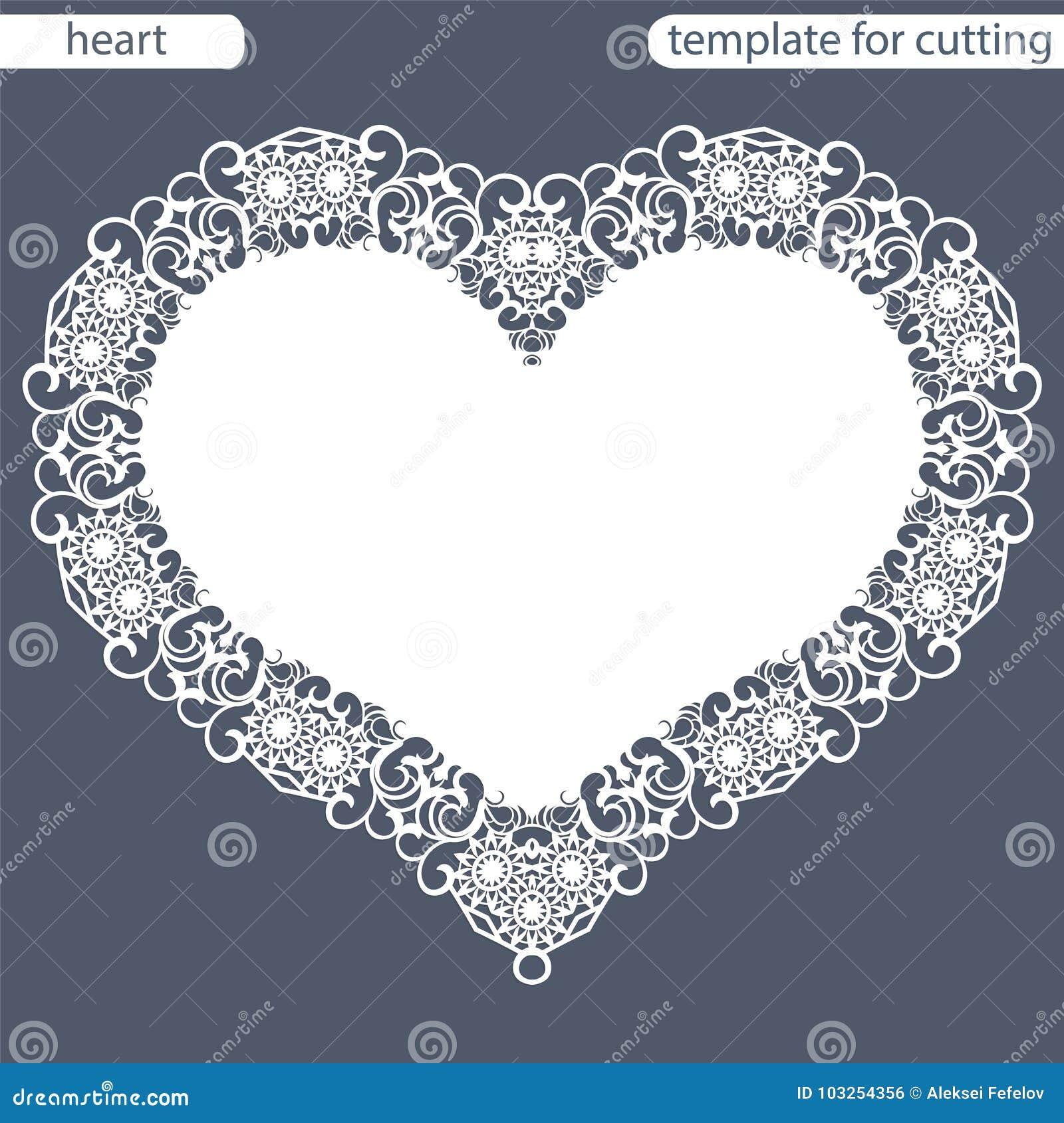 Grußkarte mit openwork Grenze, Papierdoily unter dem Kuchen, Schablone für den Schnitt in Form von Herzen, Valentinsgrußkarte, we