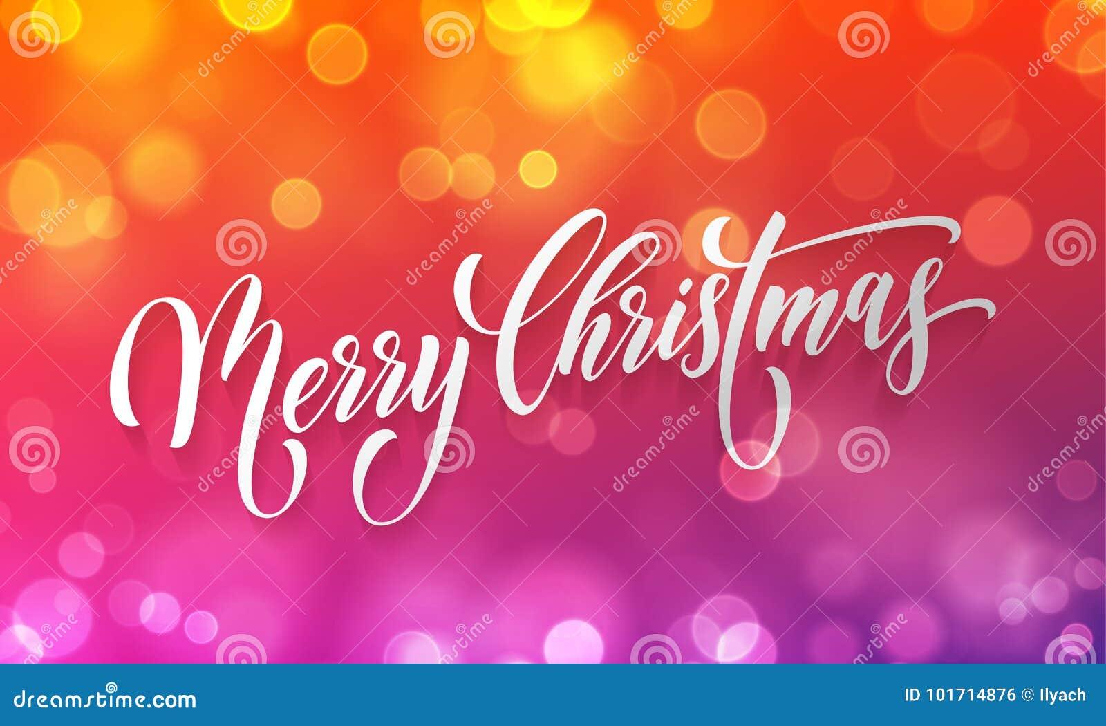 Grußkarten-Vektor goldener heller bokeh Unschärfe der frohen Weihnachten Hintergrund neuen Jahres