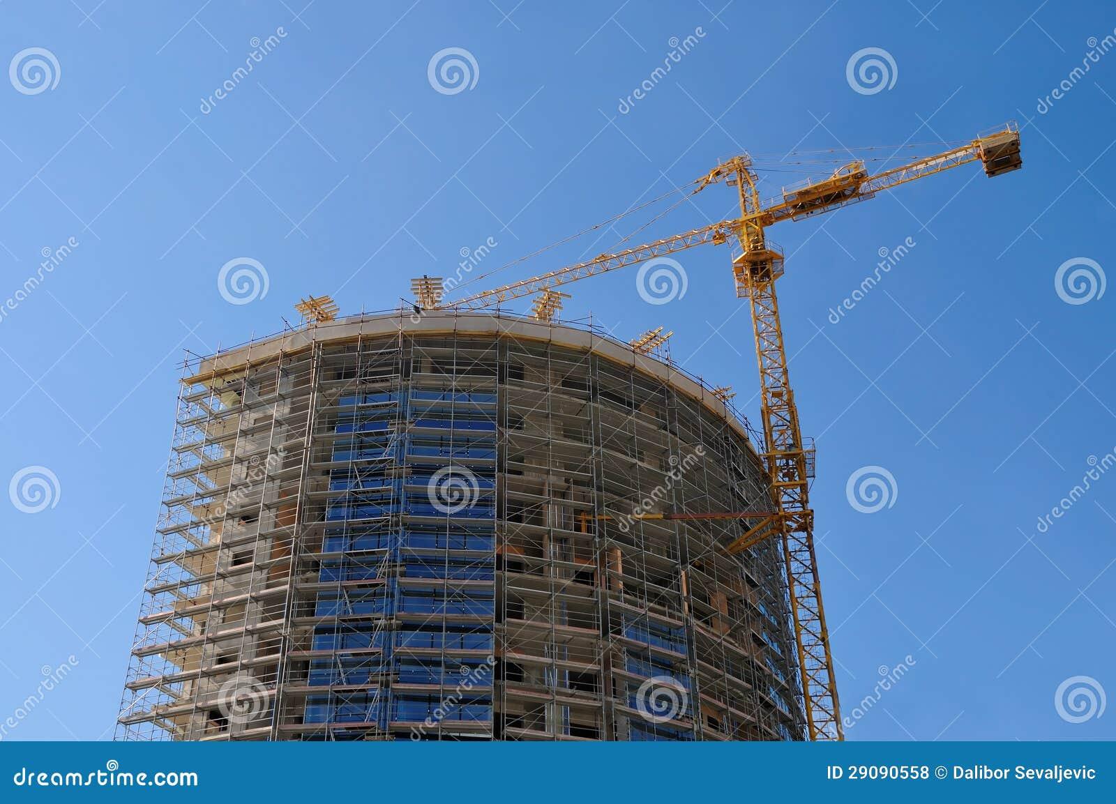 Gru della costruzione e costruzione