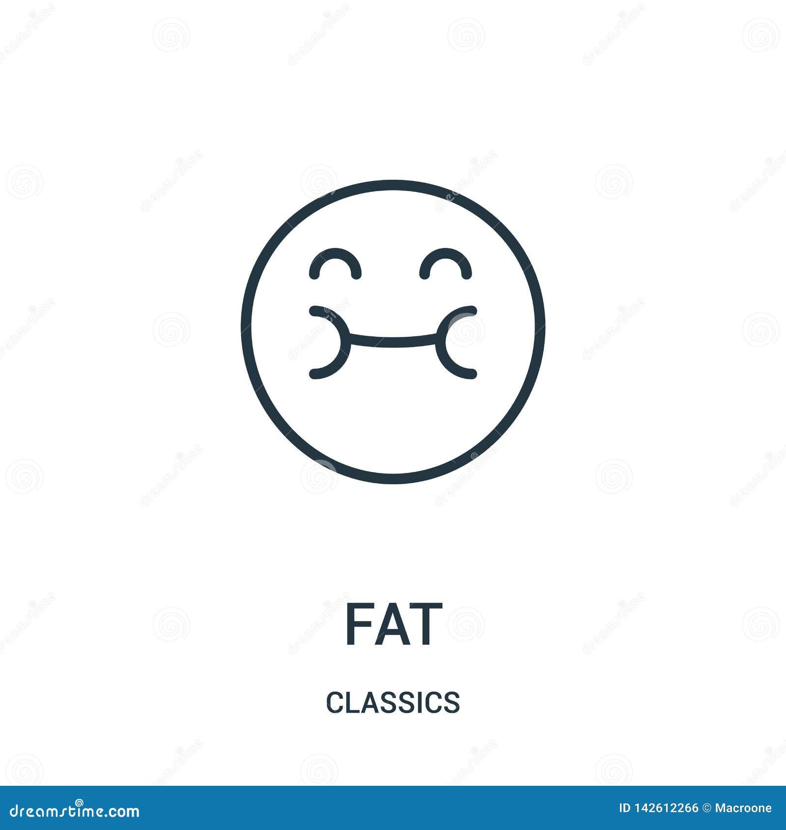 Gruby ikona wektor od klasyków inkasowych Cienka kreskowa gruba kontur ikony wektoru ilustracja Liniowy symbol