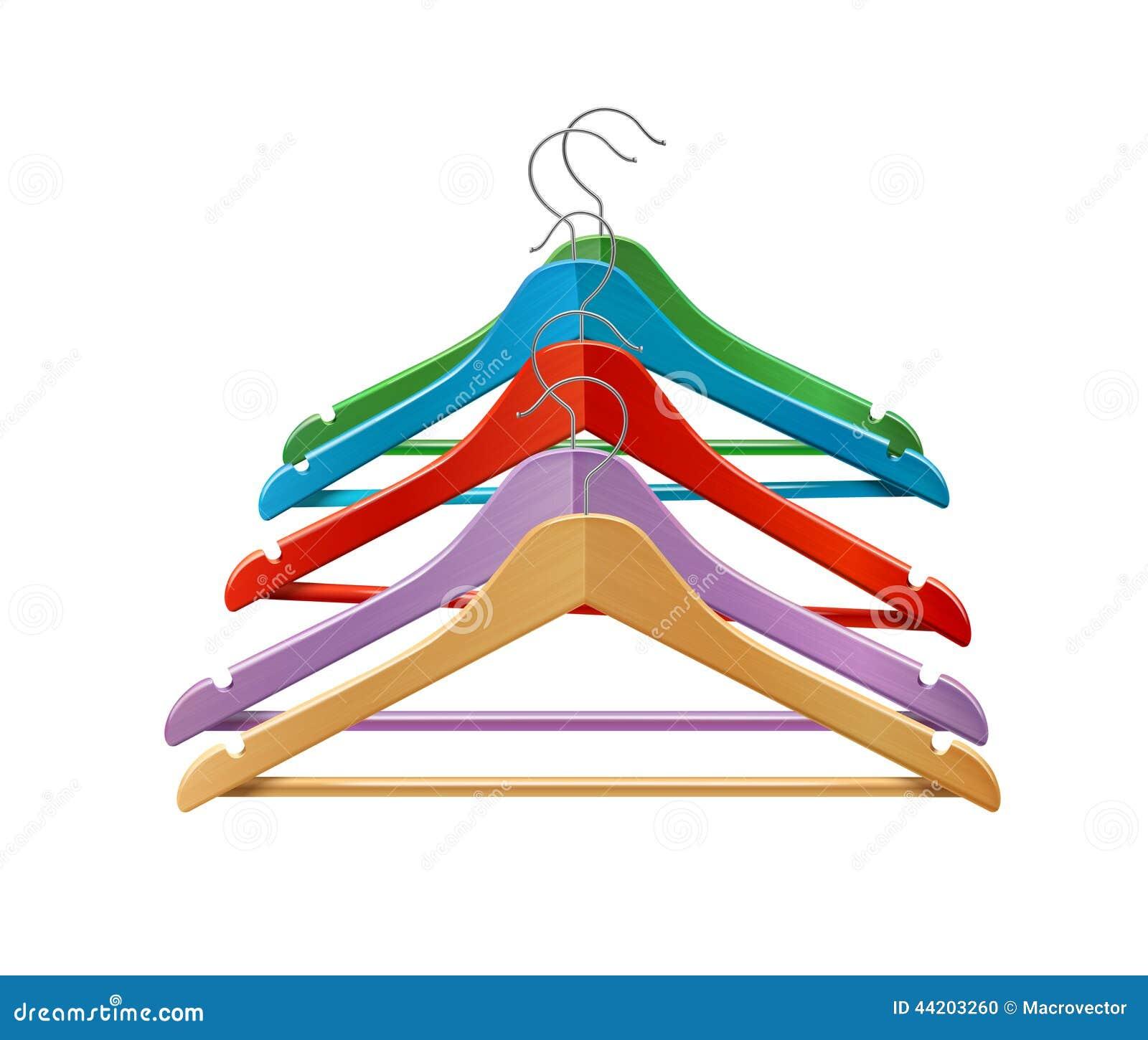 Grucce per vestiti colorate illustrazione vettoriale - Grucce legno ikea ...