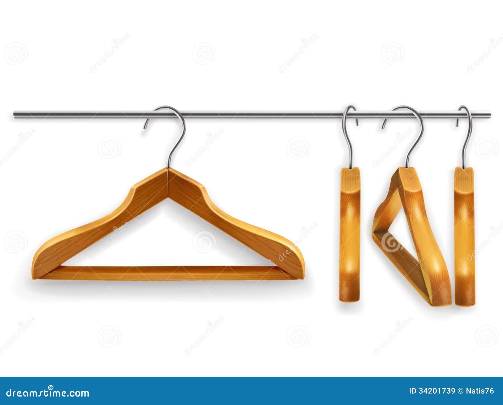 Grucce per vestiti di legno immagini stock libere da - Grucce legno ikea ...