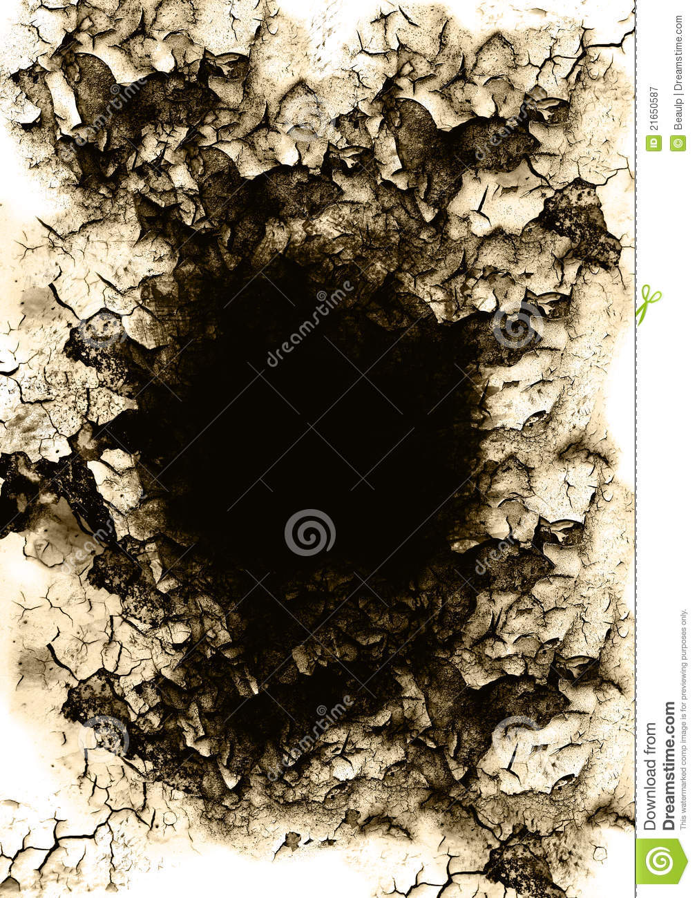 Grudge Hole Cracked Wall Royalty Free Stock Photography
