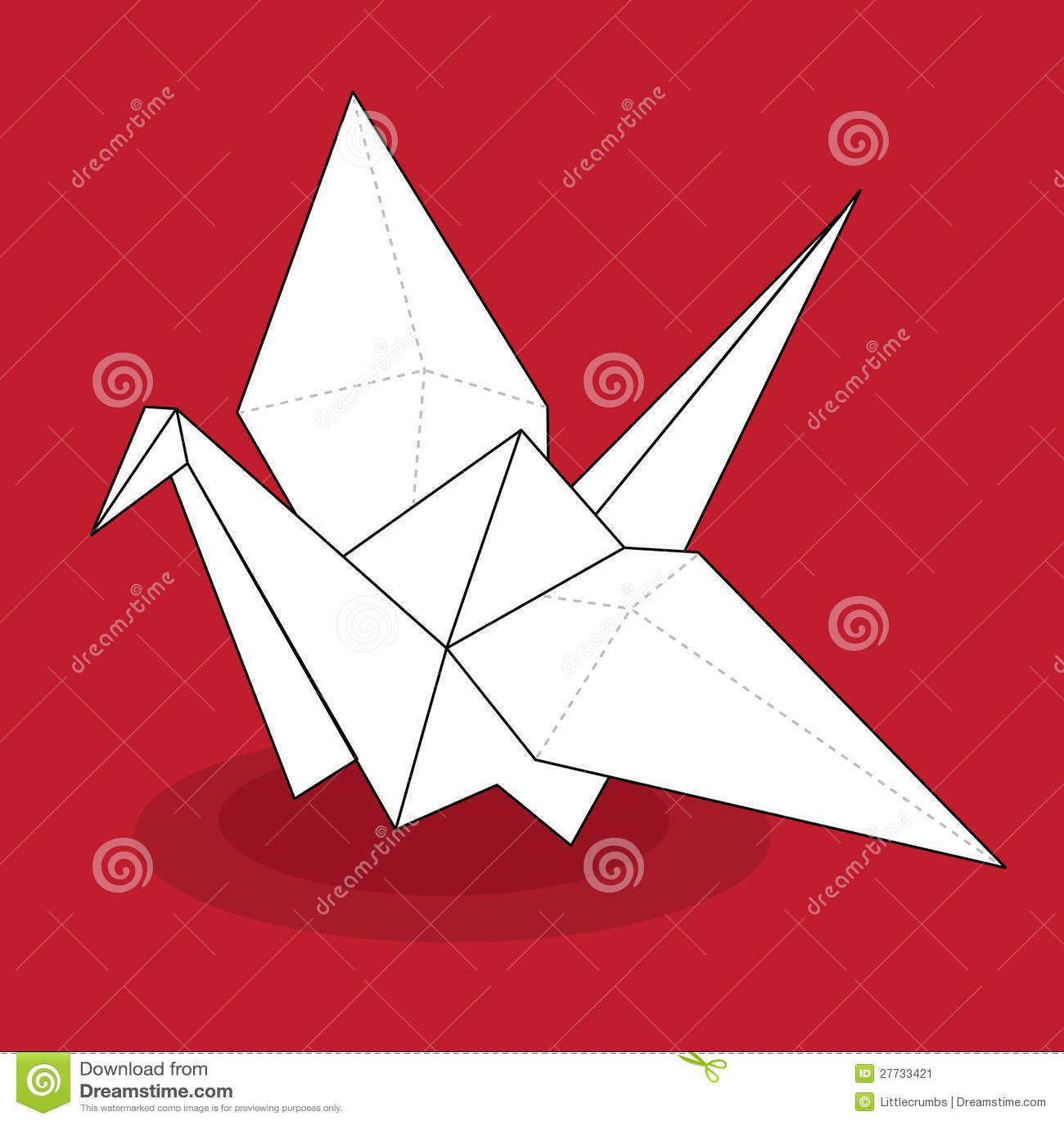 grue d 39 origami image stock image 27733421. Black Bedroom Furniture Sets. Home Design Ideas