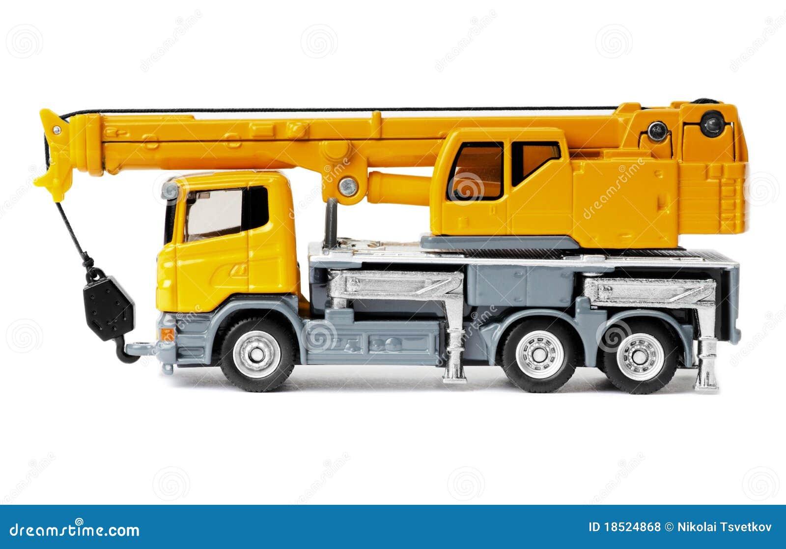 grue de camion de jouet photos libres de droits image 18524868. Black Bedroom Furniture Sets. Home Design Ideas