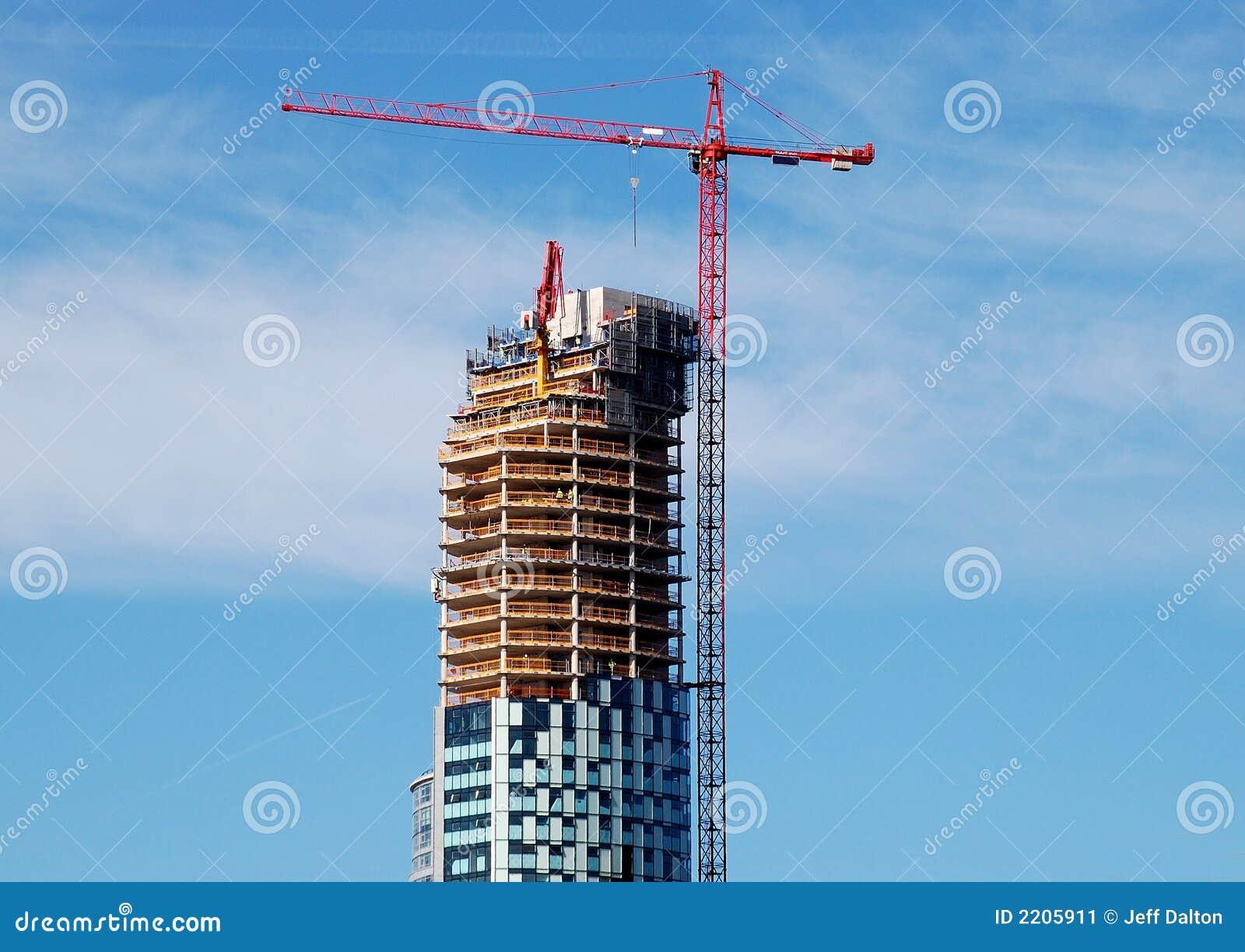 Grue de construction de gratte ciel image stock image 2205911 - Construction gratte ciel ...