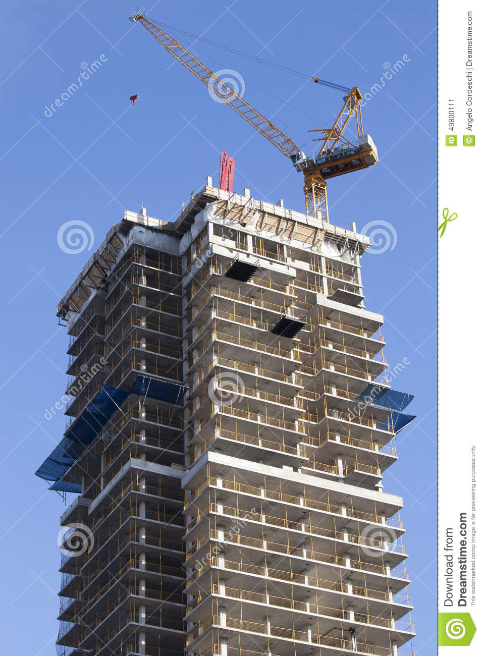 Grue et gratte ciel en construction toronto canada photo stock image 4980 - Construction gratte ciel ...