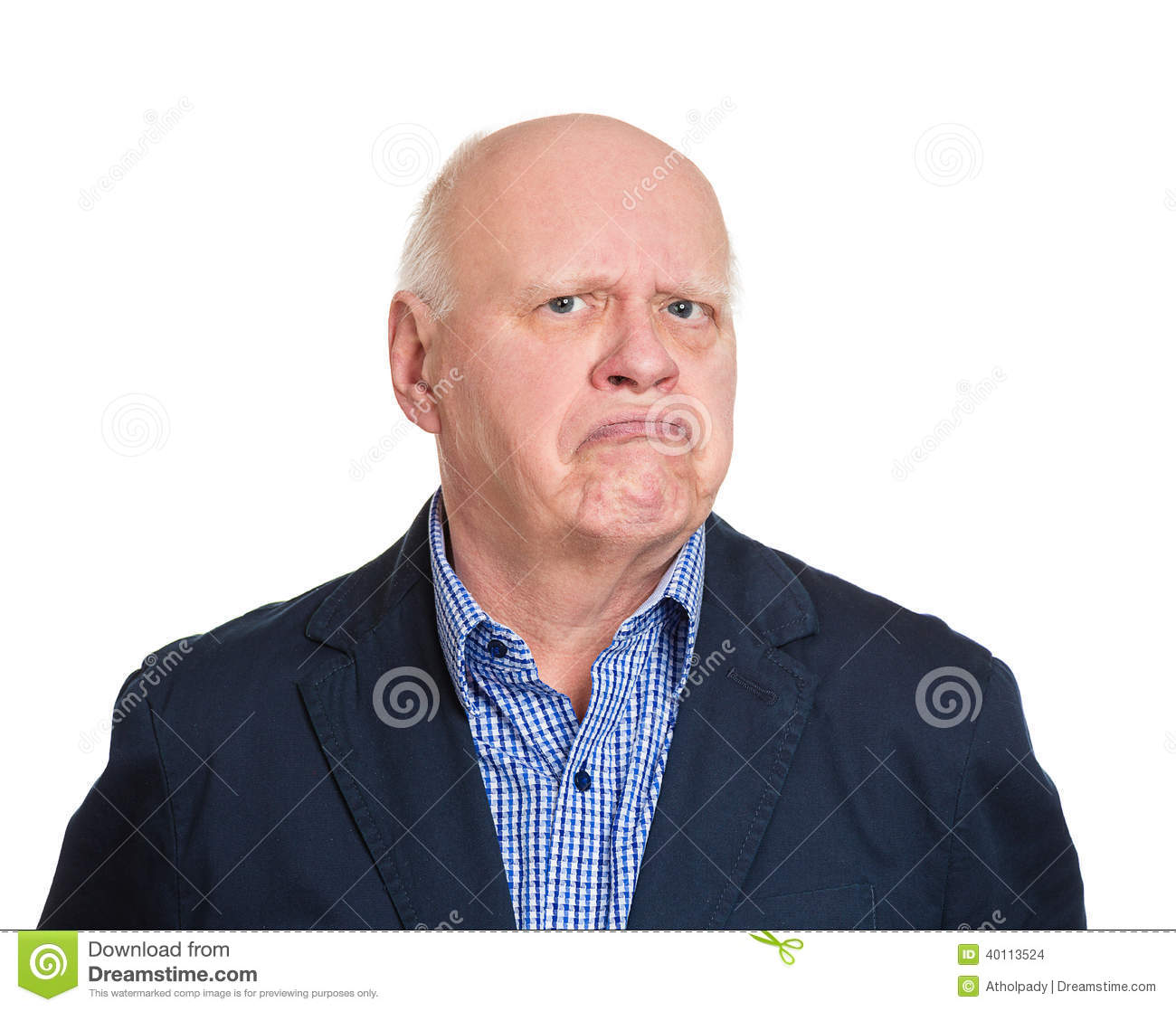 Grumpy Old Man Stock Photo Image Of Complaining, Envy -4573