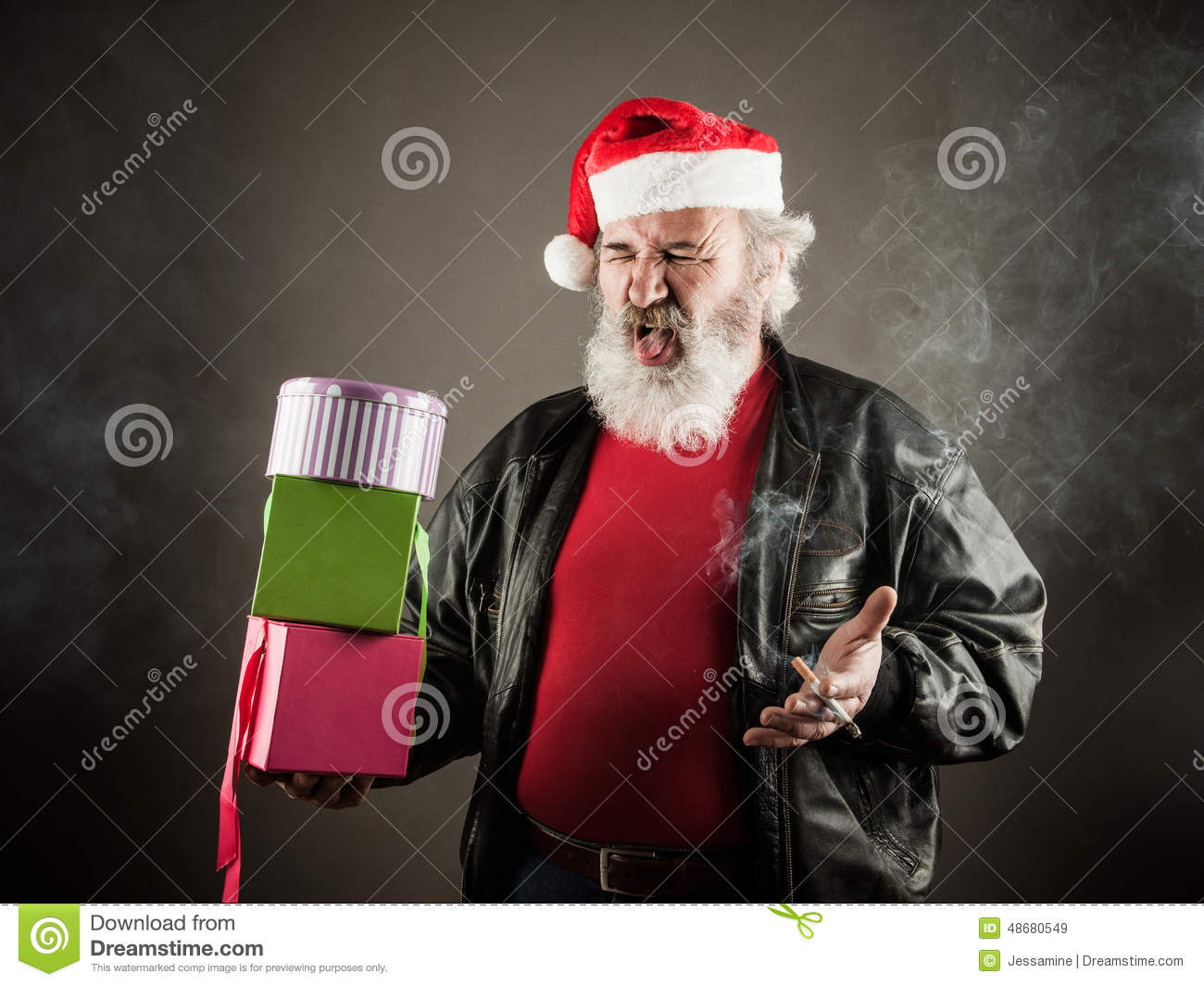 Grumpy Santa Claus Stock Photo Image 48680549