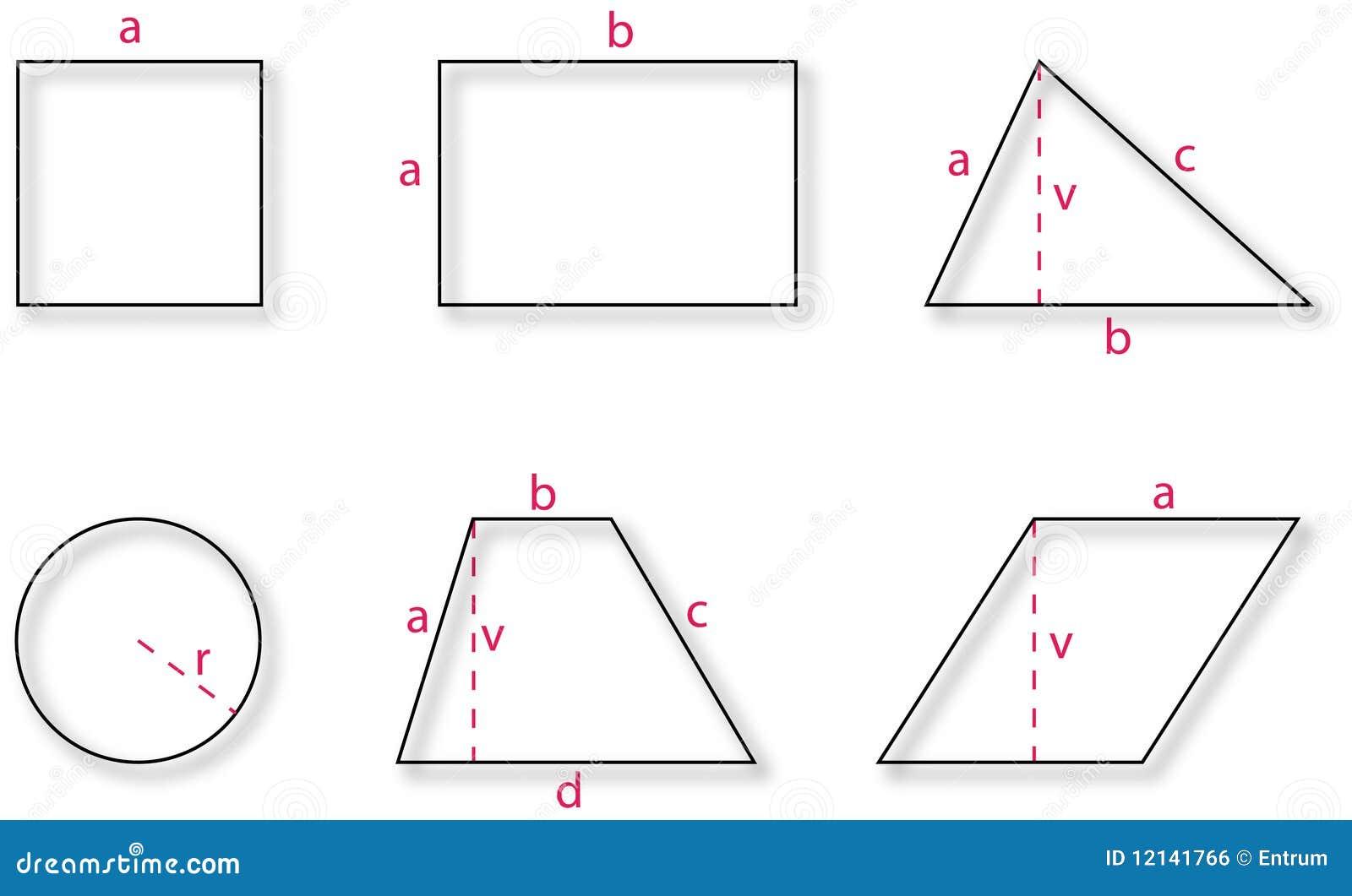 Grundlegende Geometrische Formen Lizenzfreies Stockbild ...