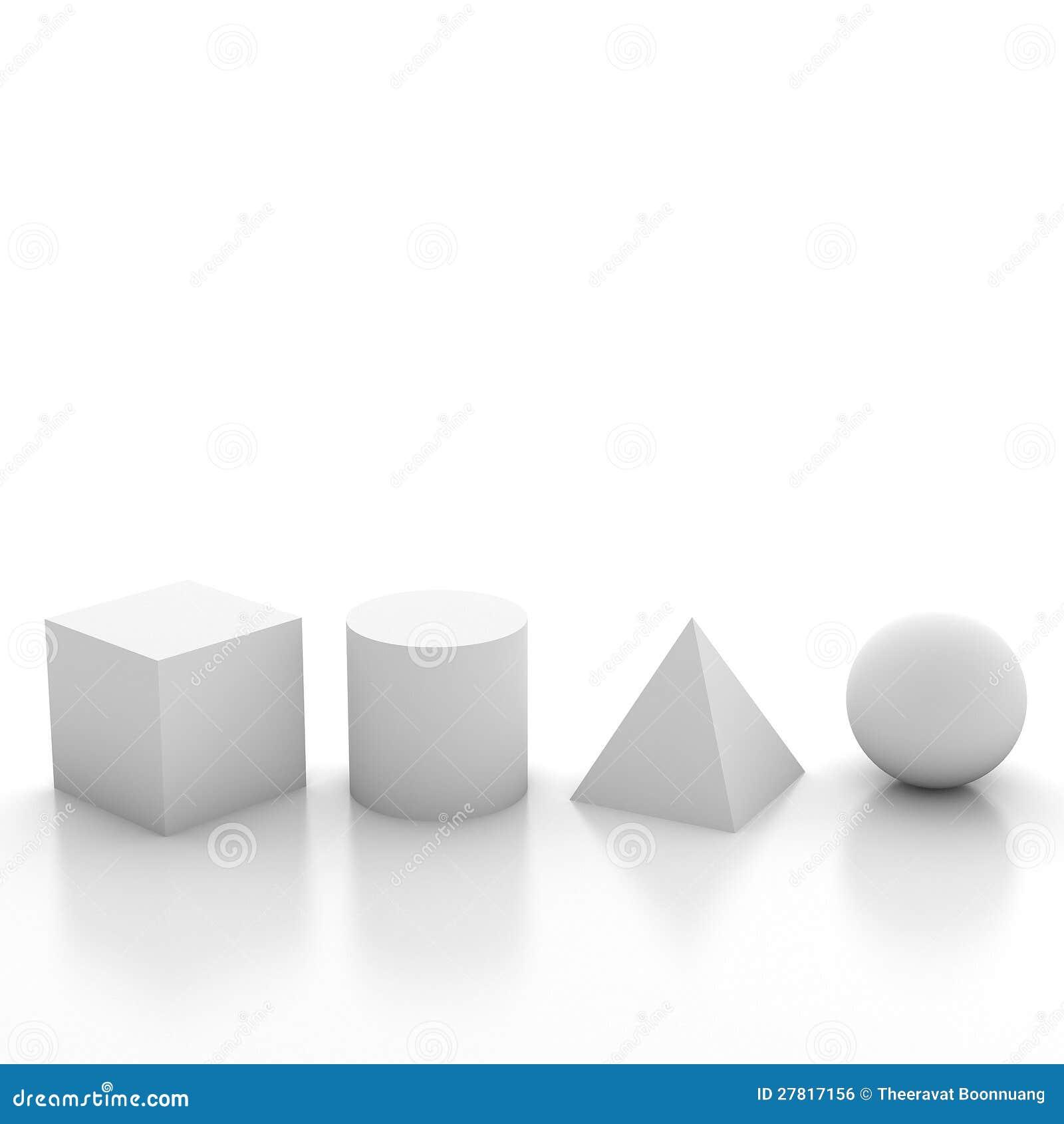 grundlegende geometrische formen der abbildung 3d stock abbildung illustration von begin. Black Bedroom Furniture Sets. Home Design Ideas