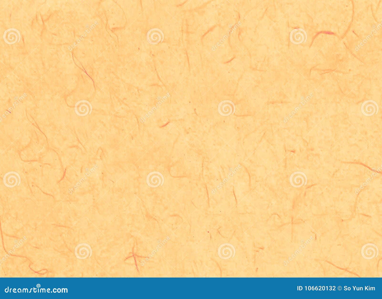 Grundlegendes orangefarbenes koreanisches oder japanisches traditionelles Papier