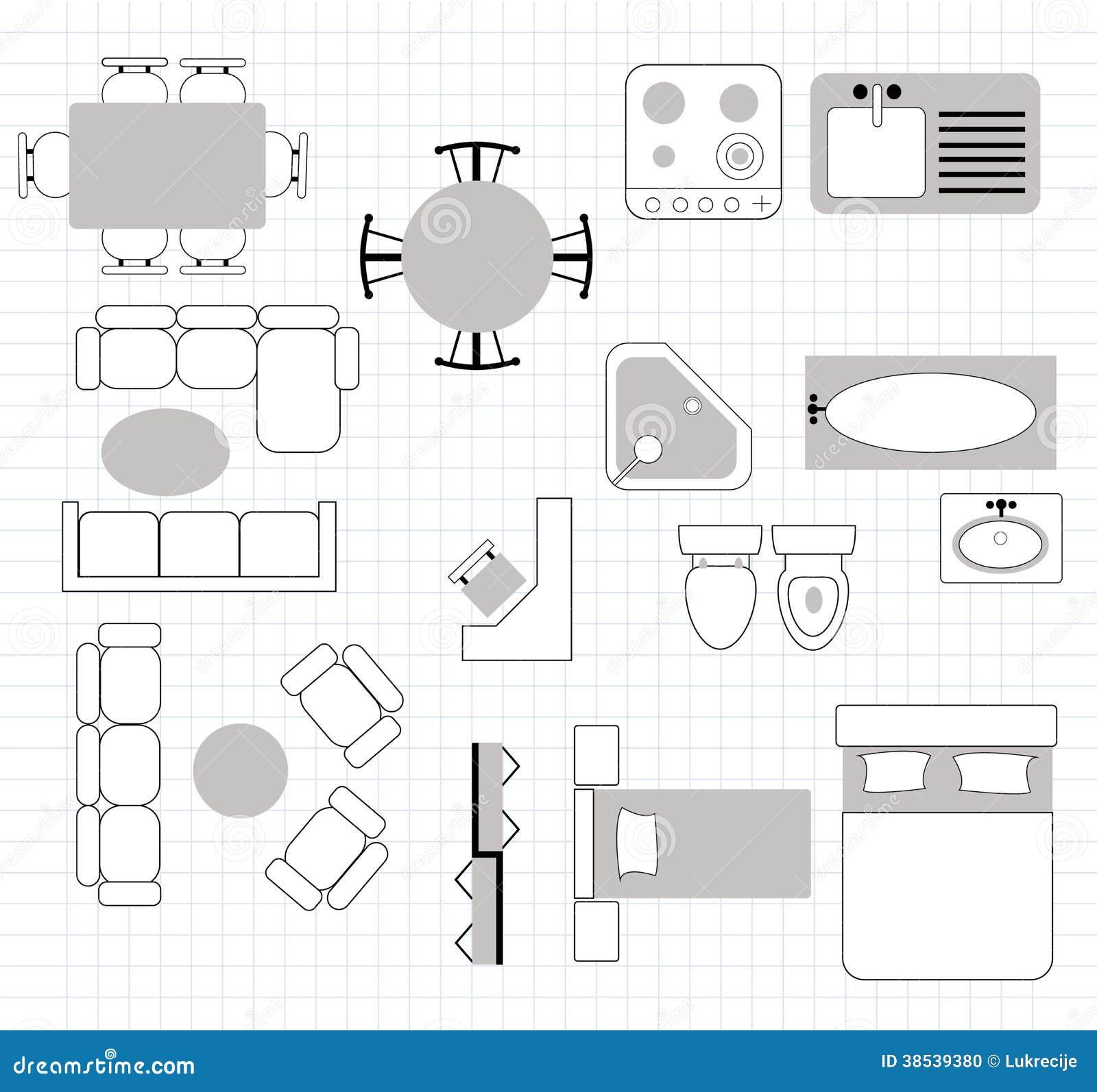 Grundriss zeichnen m bel verschiedene for Raumgestaltung zeichnen