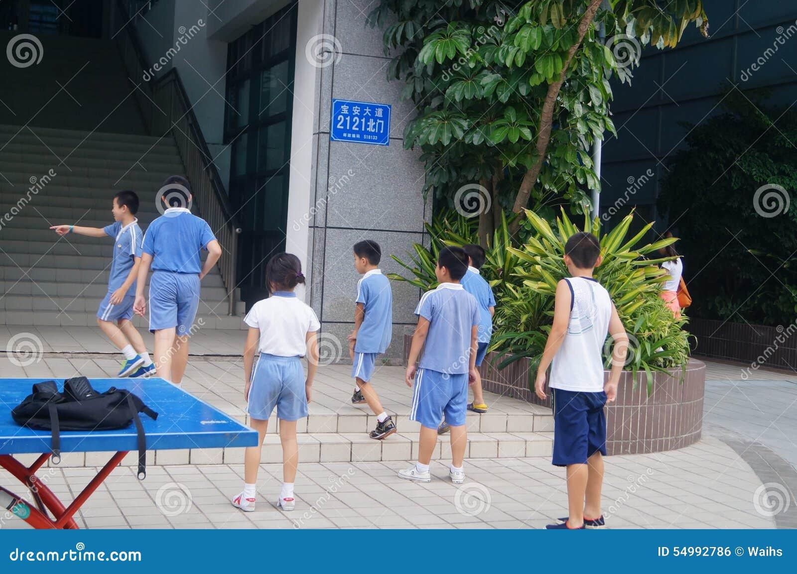 Grundskola för barn mellan 5 och 11 årstudenter i Kina