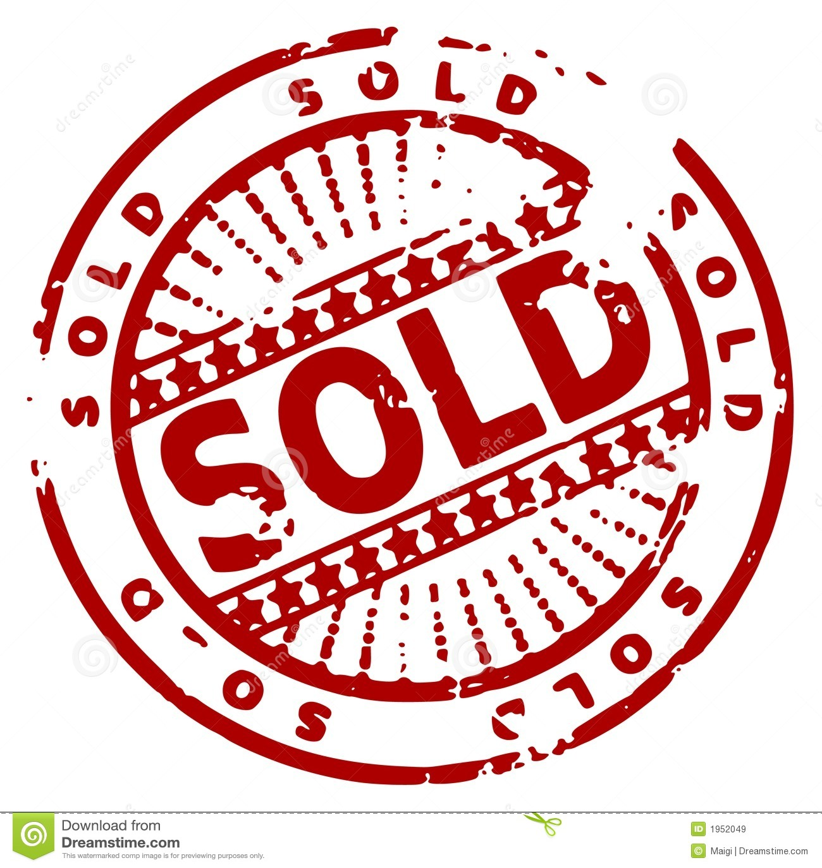 Grunge墨水被出售的印花税