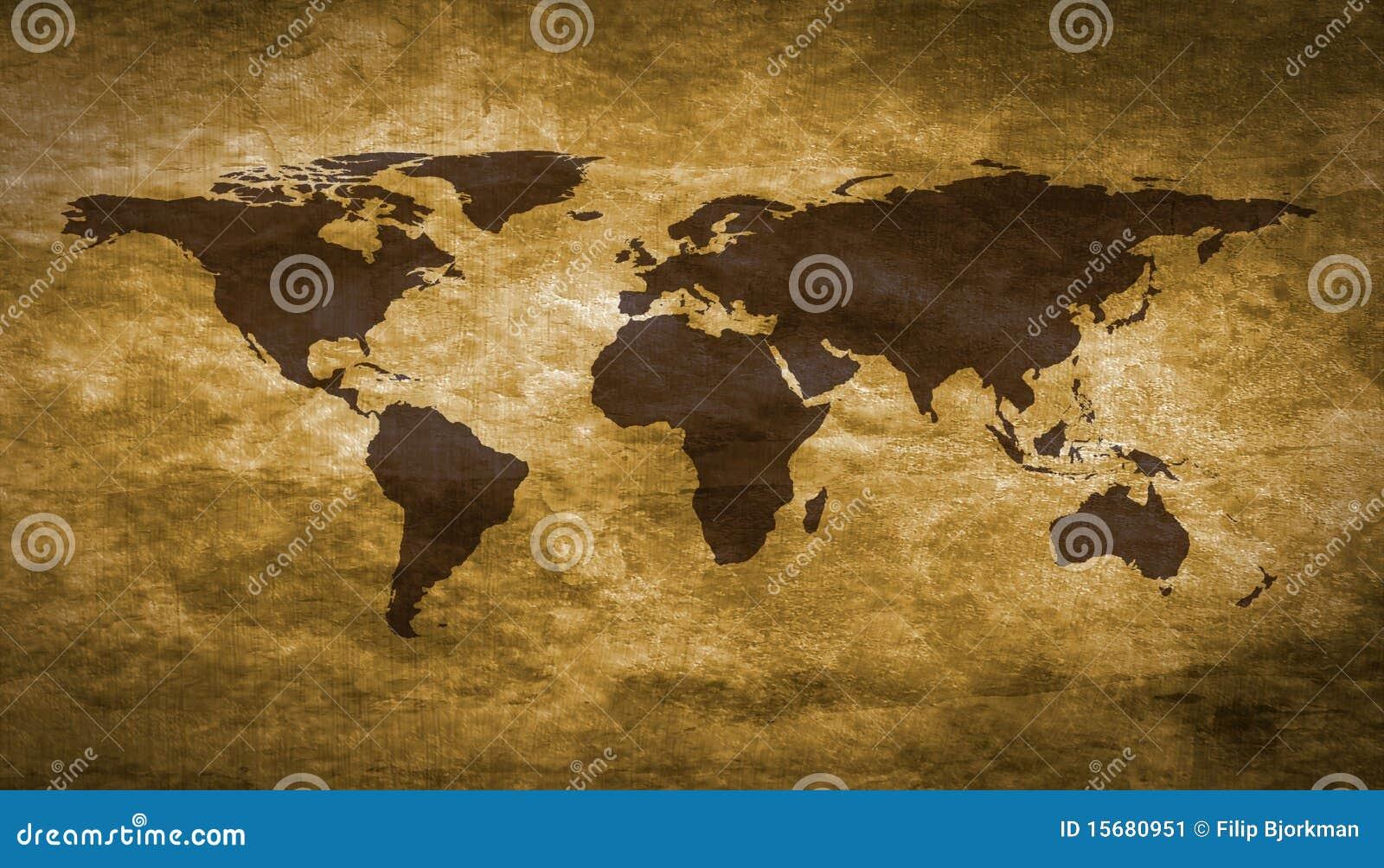 Grunge κόσμος χαρτών
