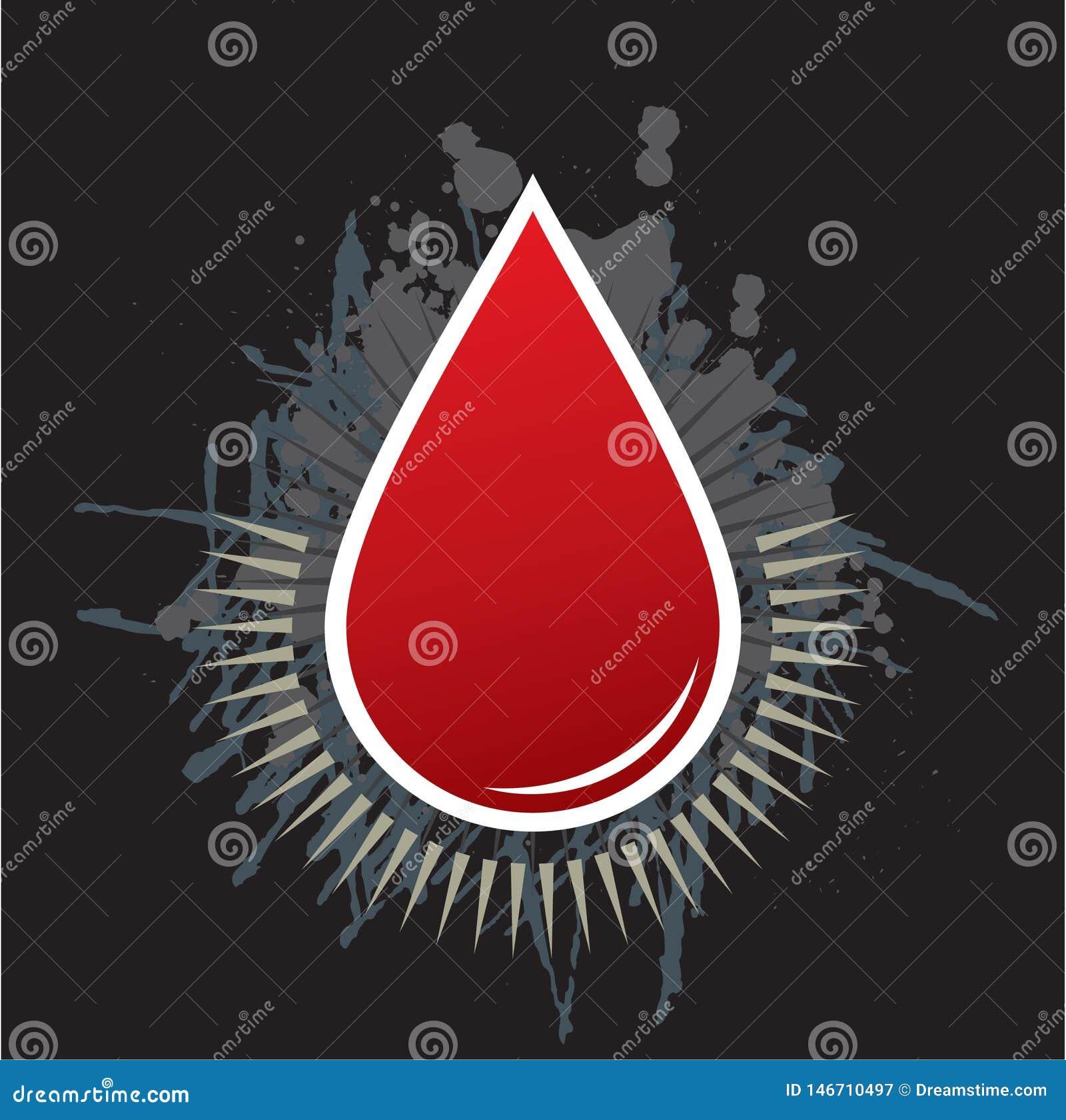 Grunge красного blooddrop крови кровопролитный