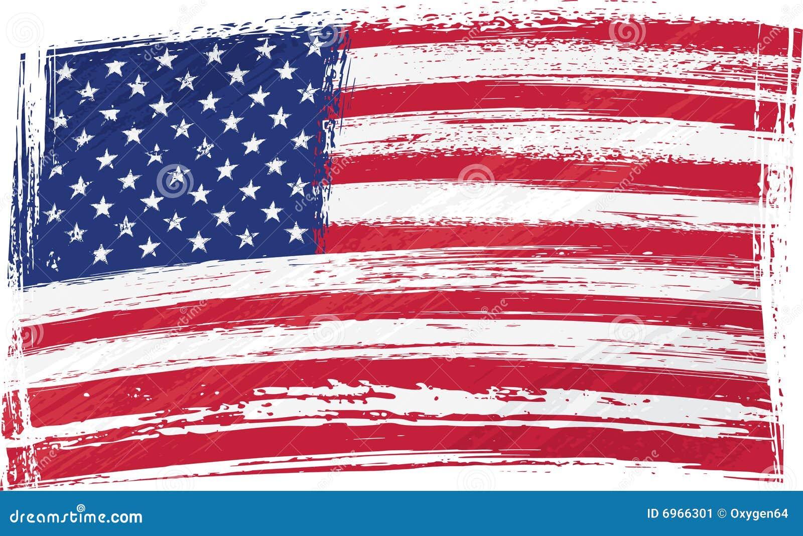 Grunge США флага