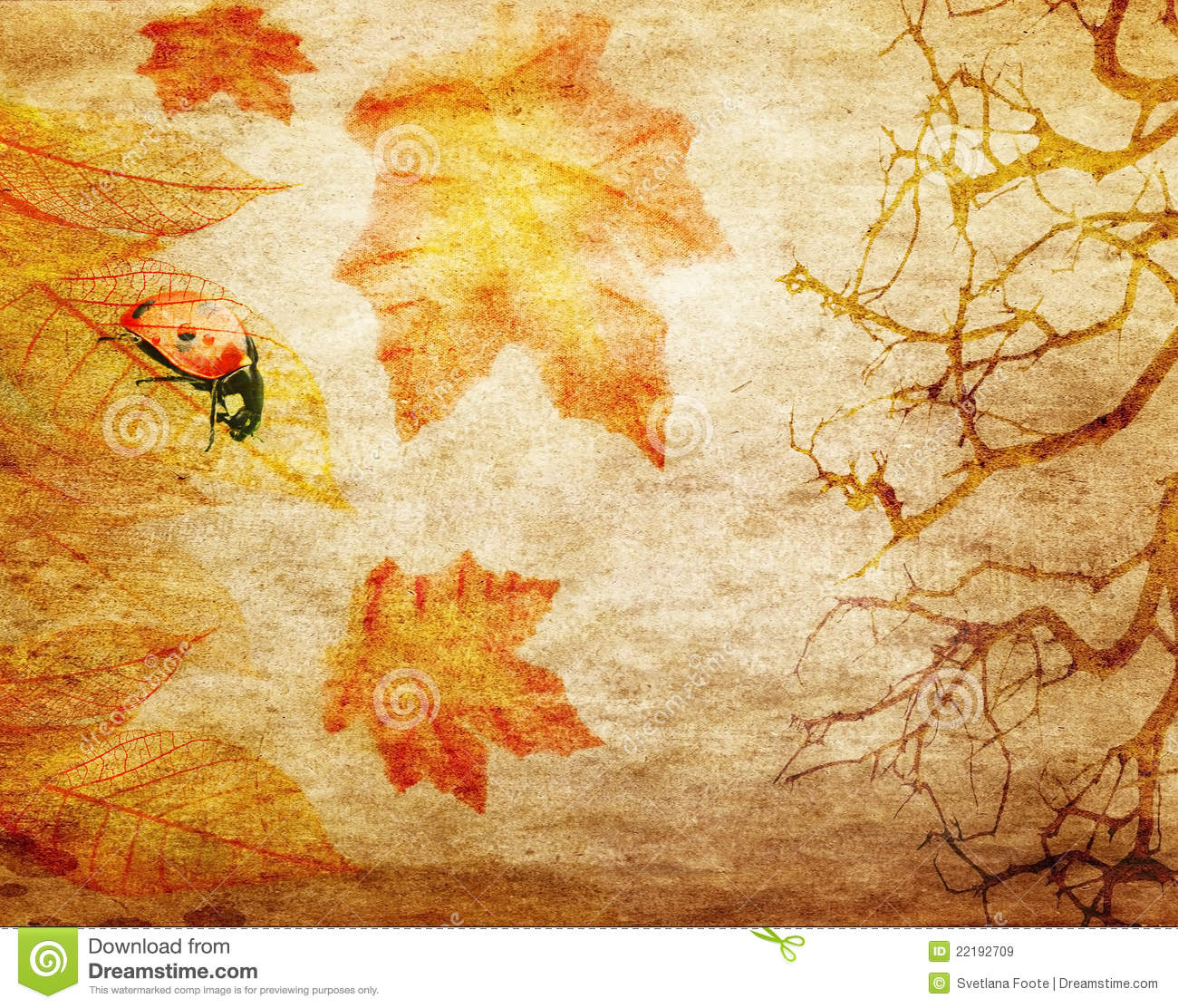 Grunge Abstract Fall Background Stock Illustration