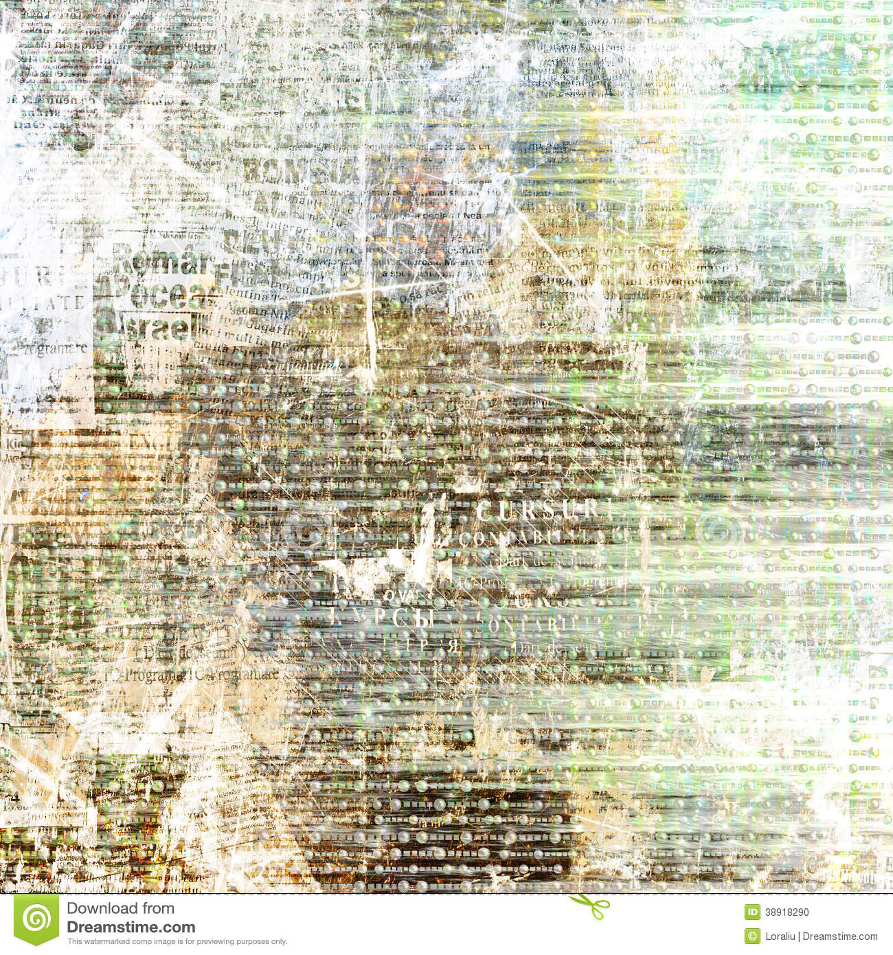 grunge abstract newspaper background stock illustration