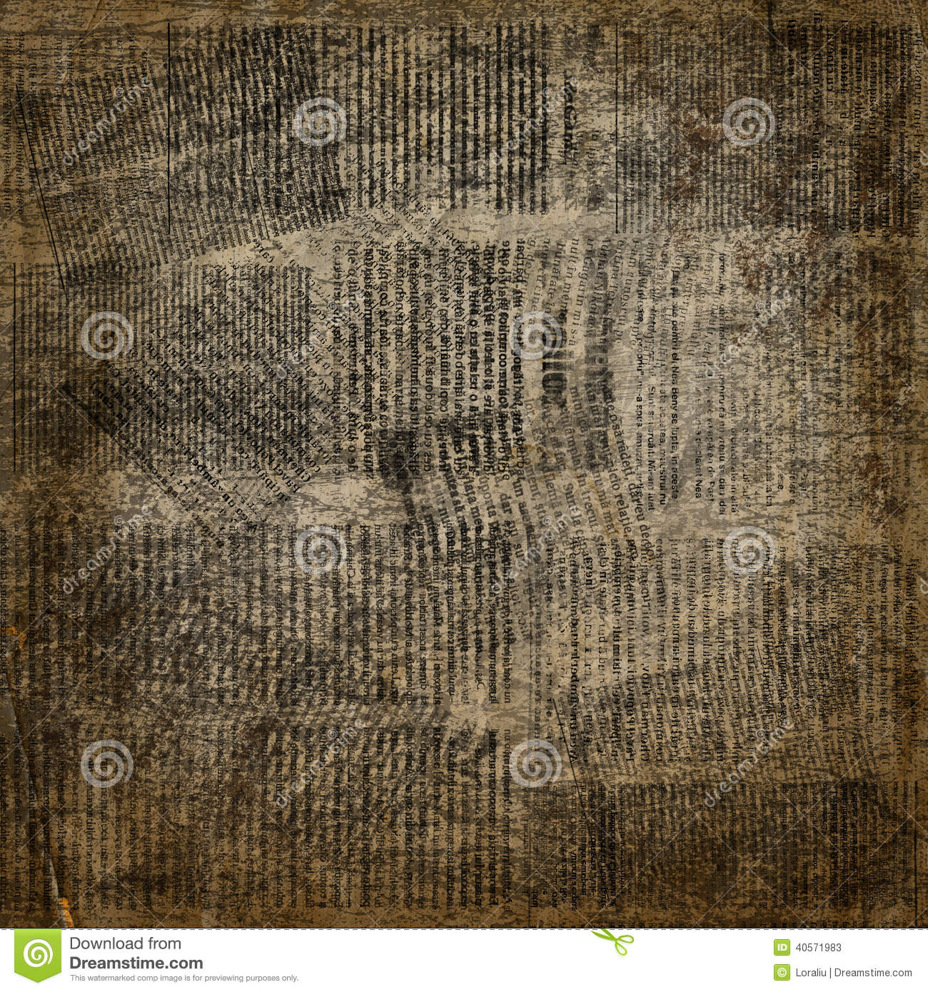 grunge abstract newspaper background for design stock illustration