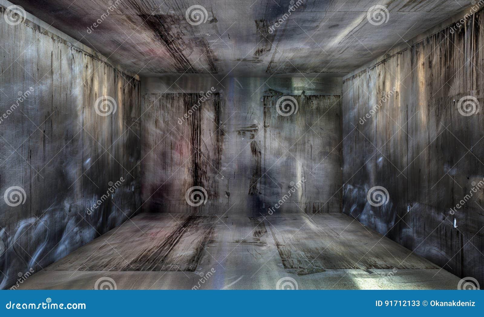 Grunge Abstract Urban Metallic Room Stage Background