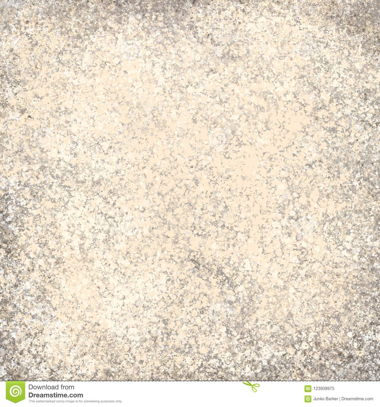 Grunge Cream And Light Brown Wall Background