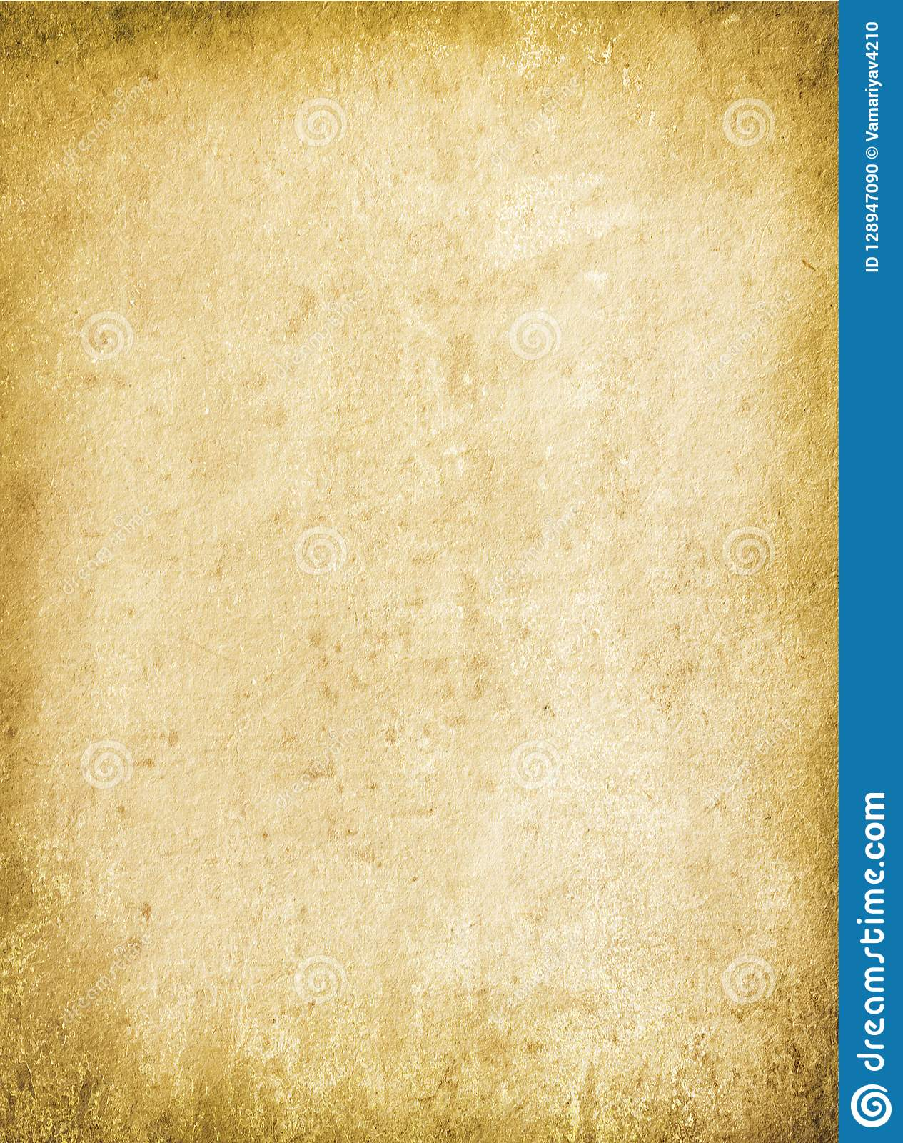 Grunge Background Brown, Old Paper Texture, Stains, Blank
