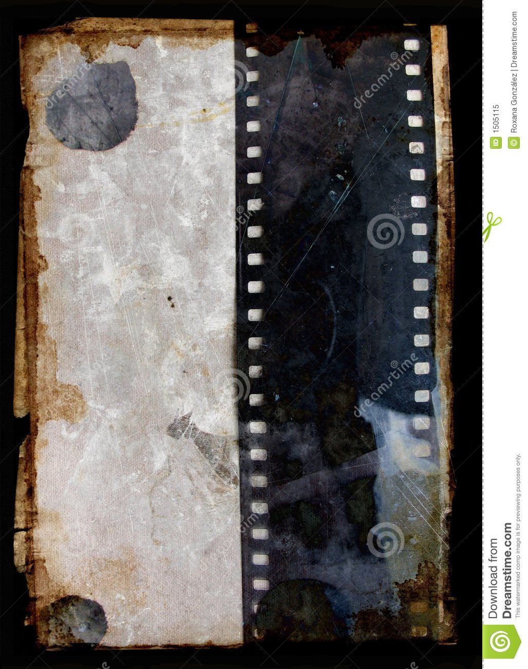 Grunge background with film strip