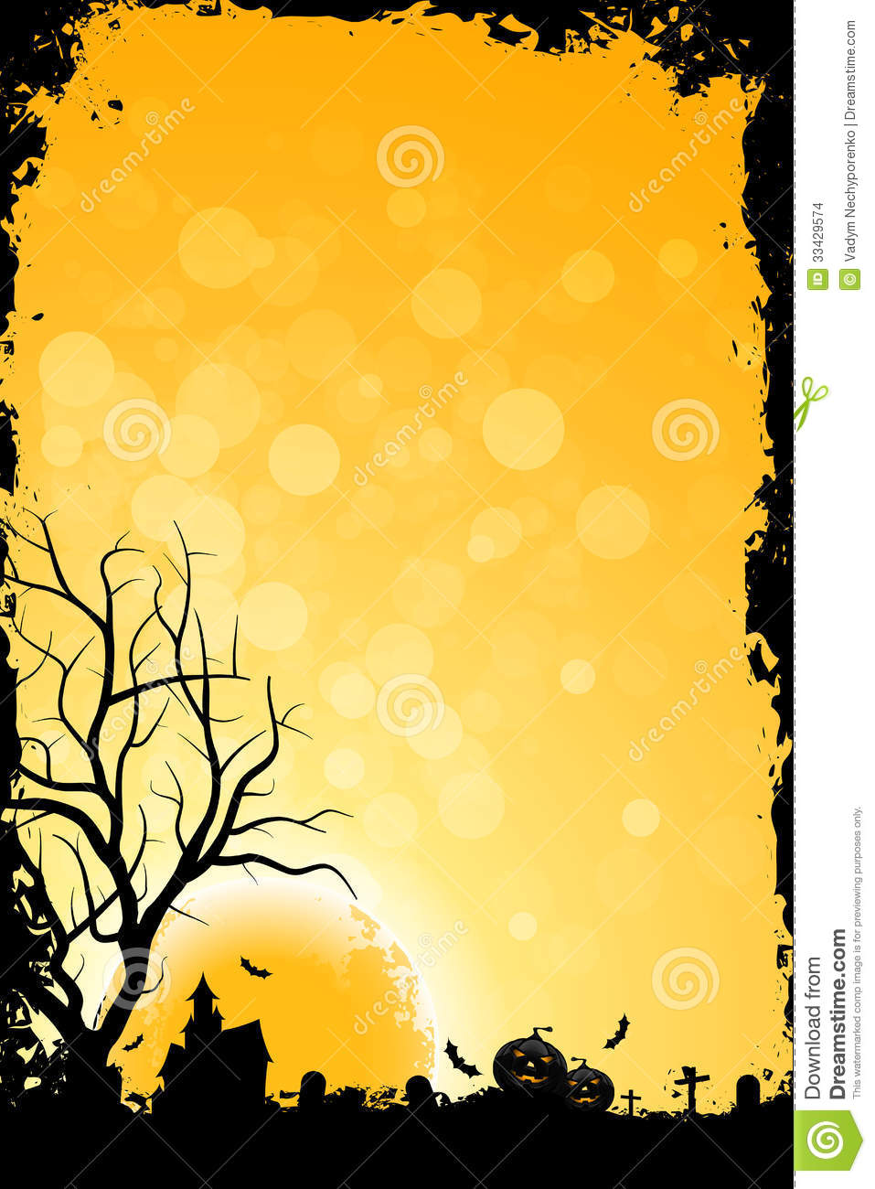 Grunge Background For Halloween Party Stock Images - Image: 33429574