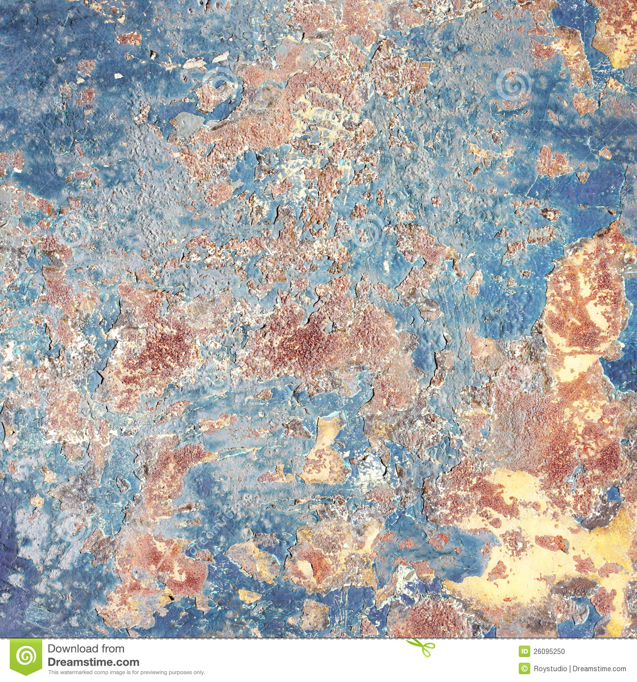 Grunge background, old metal background painted wall texture