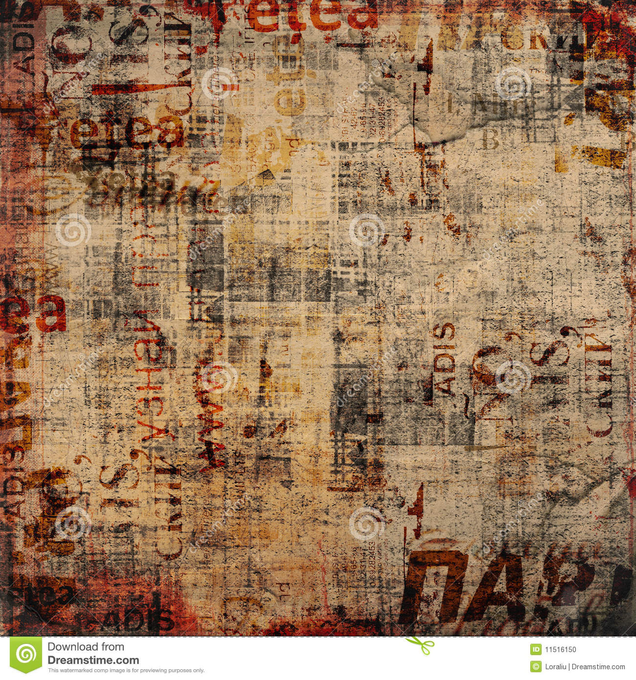 grunge background with old posters stock photo image of digital