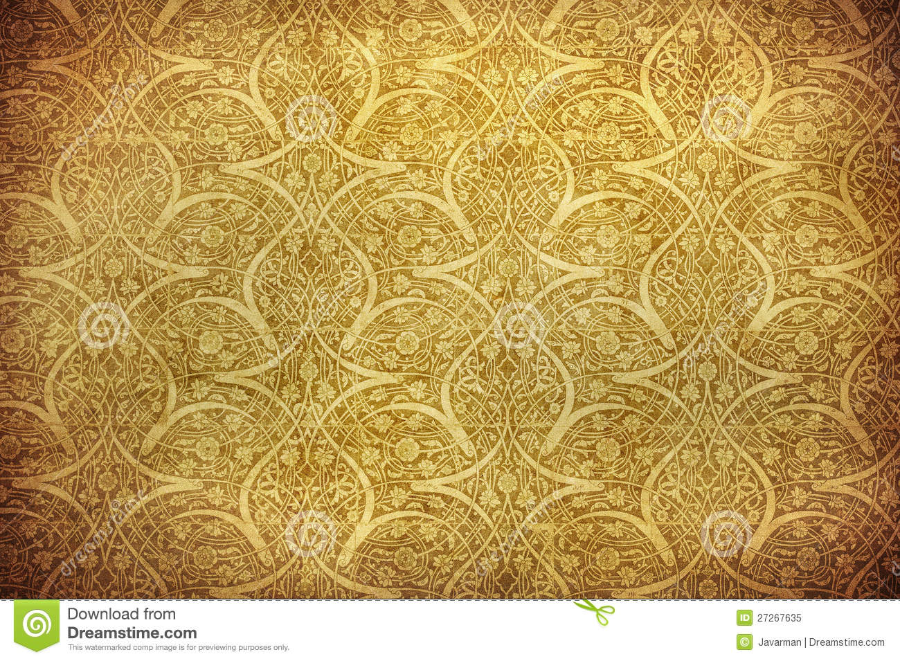 Grunge Background With Oriental Ornaments Royalty Free