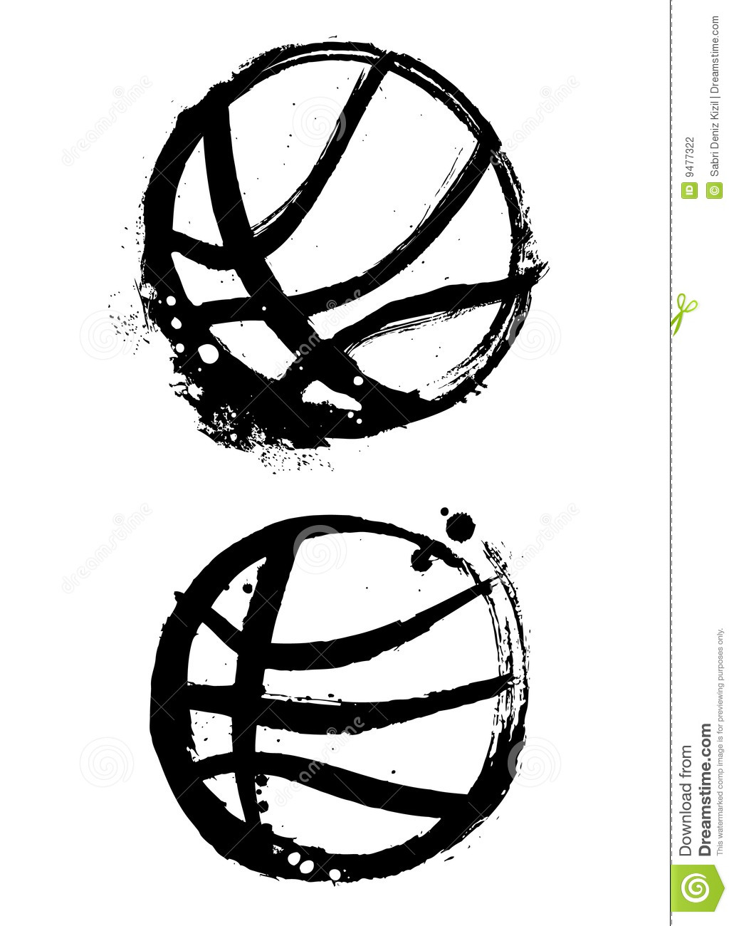 Grunge Basketball Vector Stock Vector Illustration Of Graphic 9477322