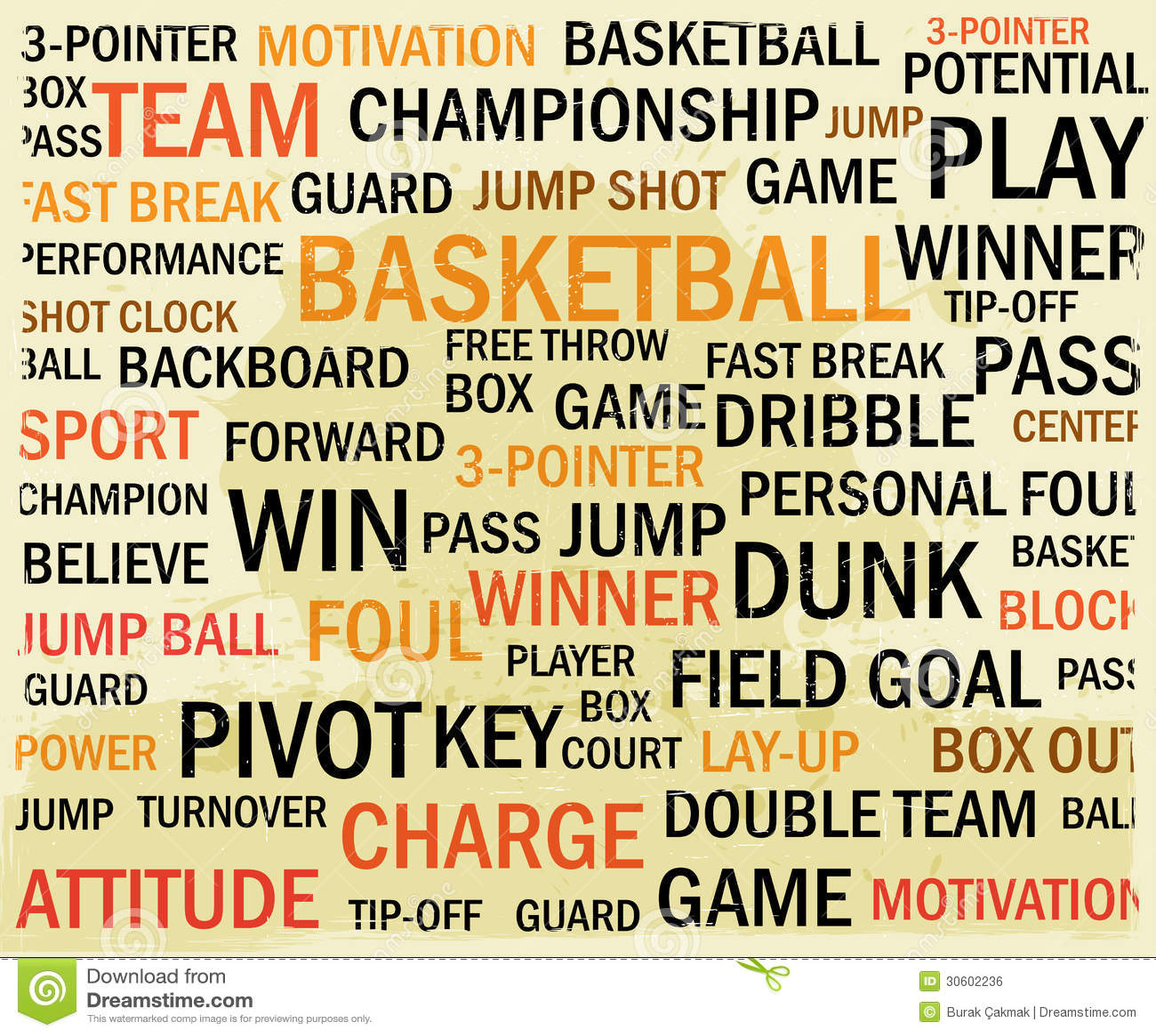 Grunge Basketball Word Cloud Royalty Free Stock Image - Image ...