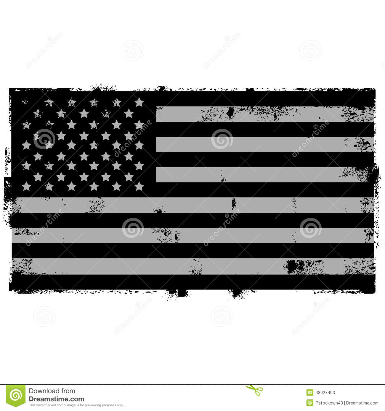 Grunge Black American Background
