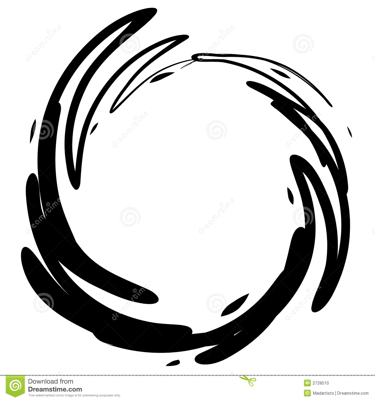 More similar stock images of ` Grunge Black Ink Circle Stain `