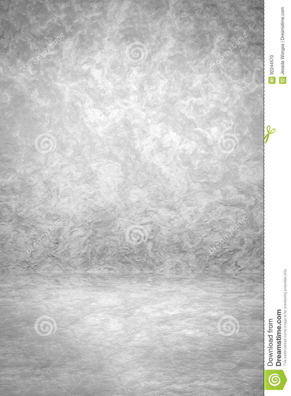 Grunge Black And White Studio Backdrop With Space For Vintage