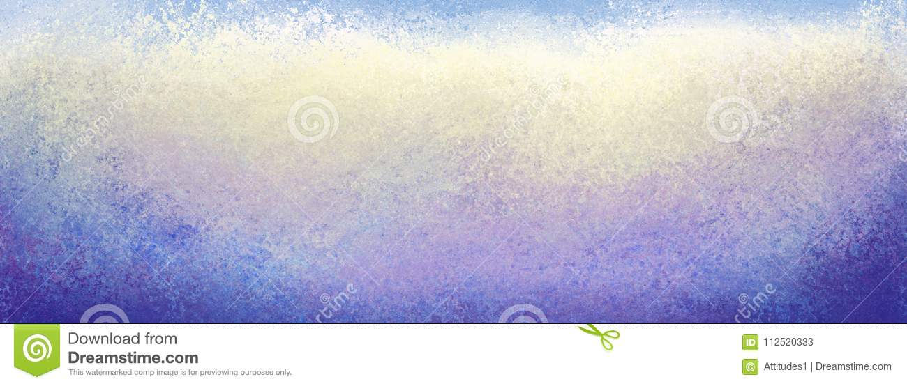 Grunge blue yellow white purple and blue background with lots of texture, dark borders and light center