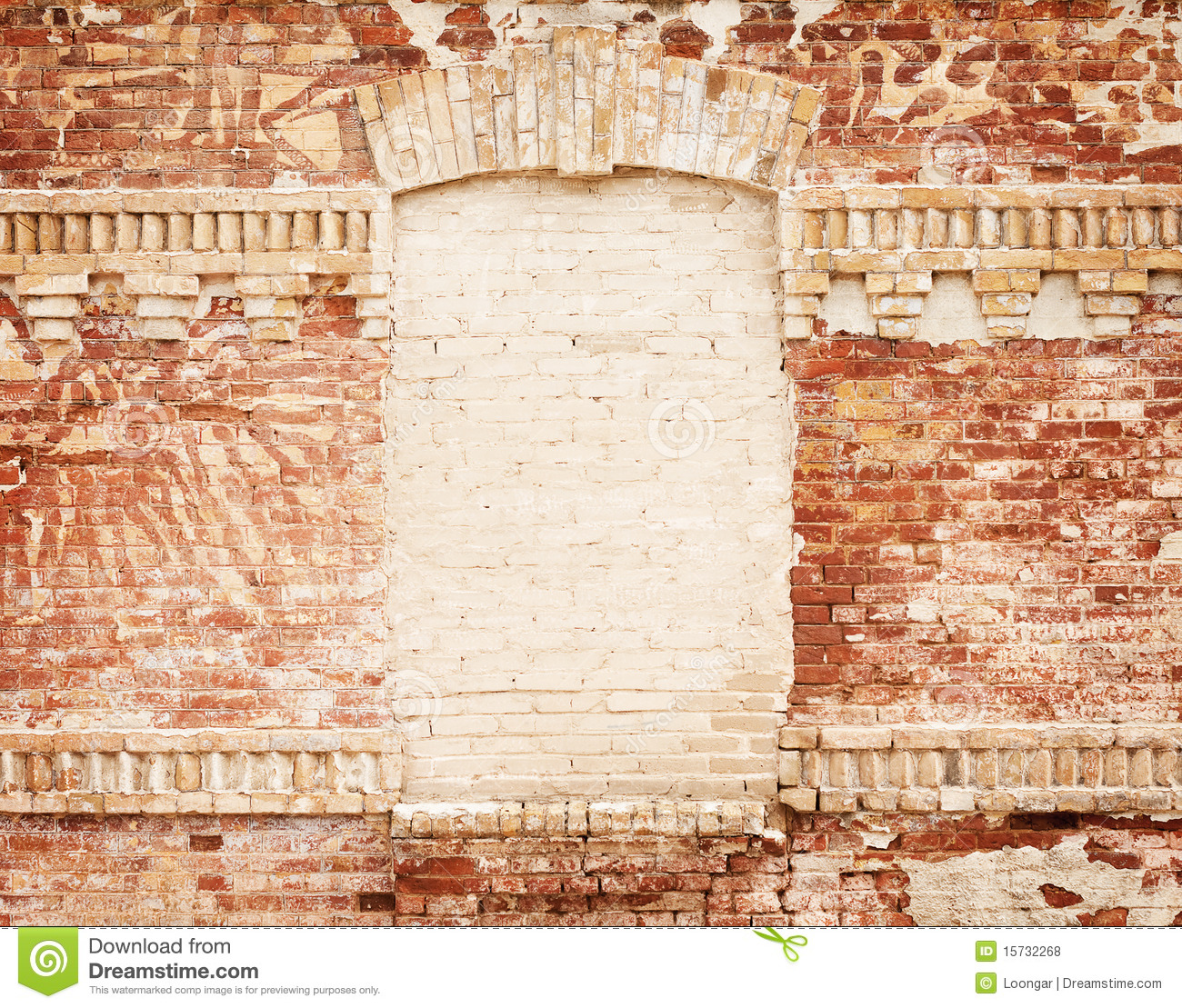 Old brick wall as a frame 01 stock photo image 18377500 - Grunge Brick Wall With Blank Frame Royalty Free Stock Photos