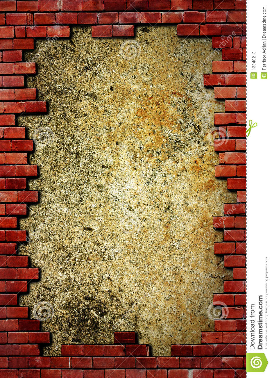 Grunge Brick Wall And Concrete Texture Stock Image - Image of decor ...